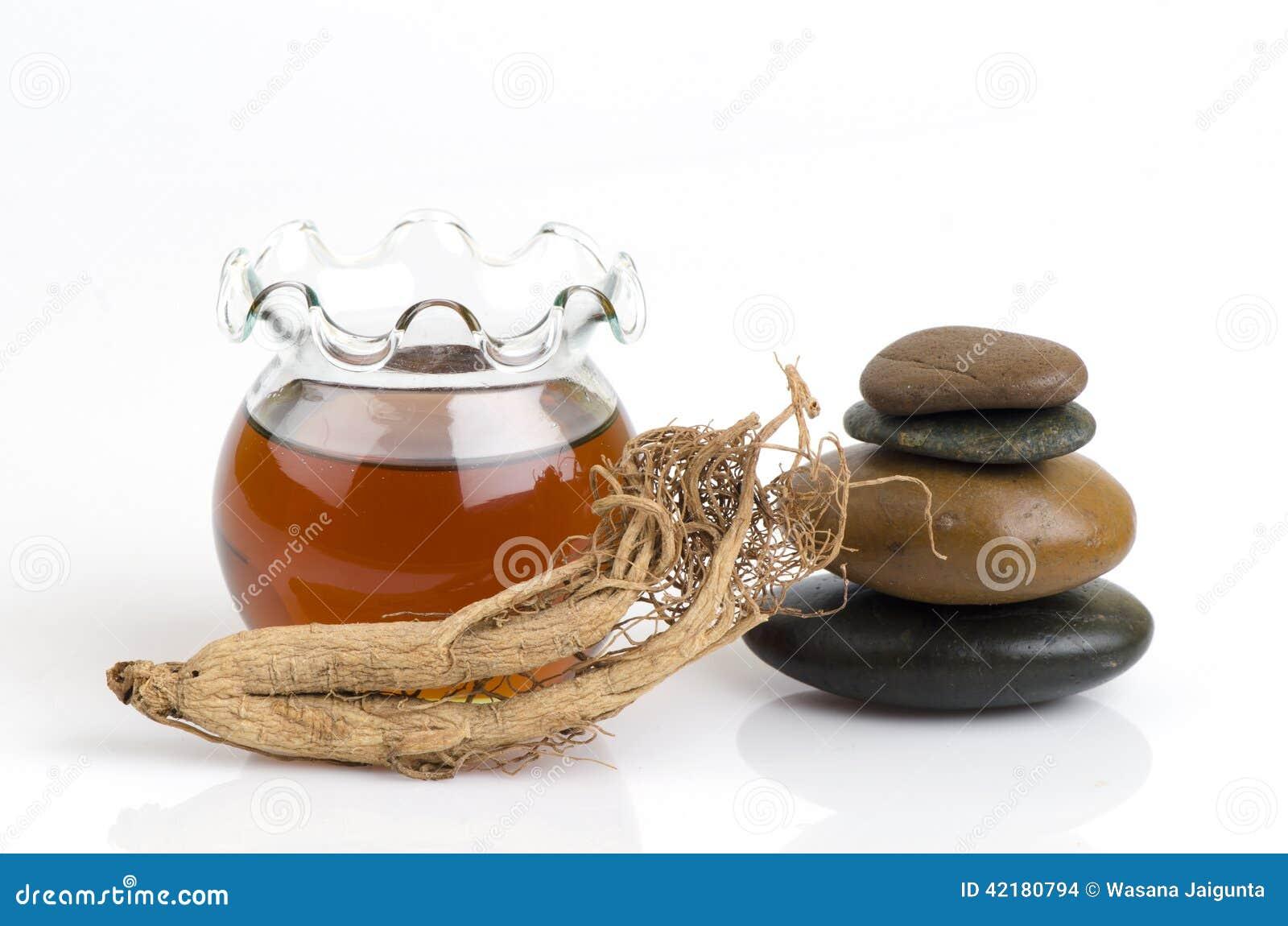 Mascarilla con el ginseng y la miel