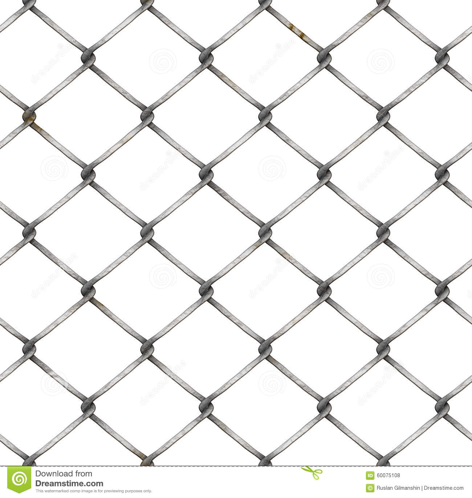Maschendrahtzaun Am Weißen Hintergrund Stock Abbildung ...