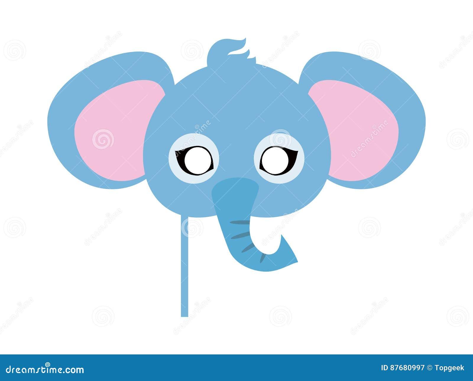 Maschera di carnevale dell 39 elefante grande animale con le - Elefante foglio di colore dell elefante ...