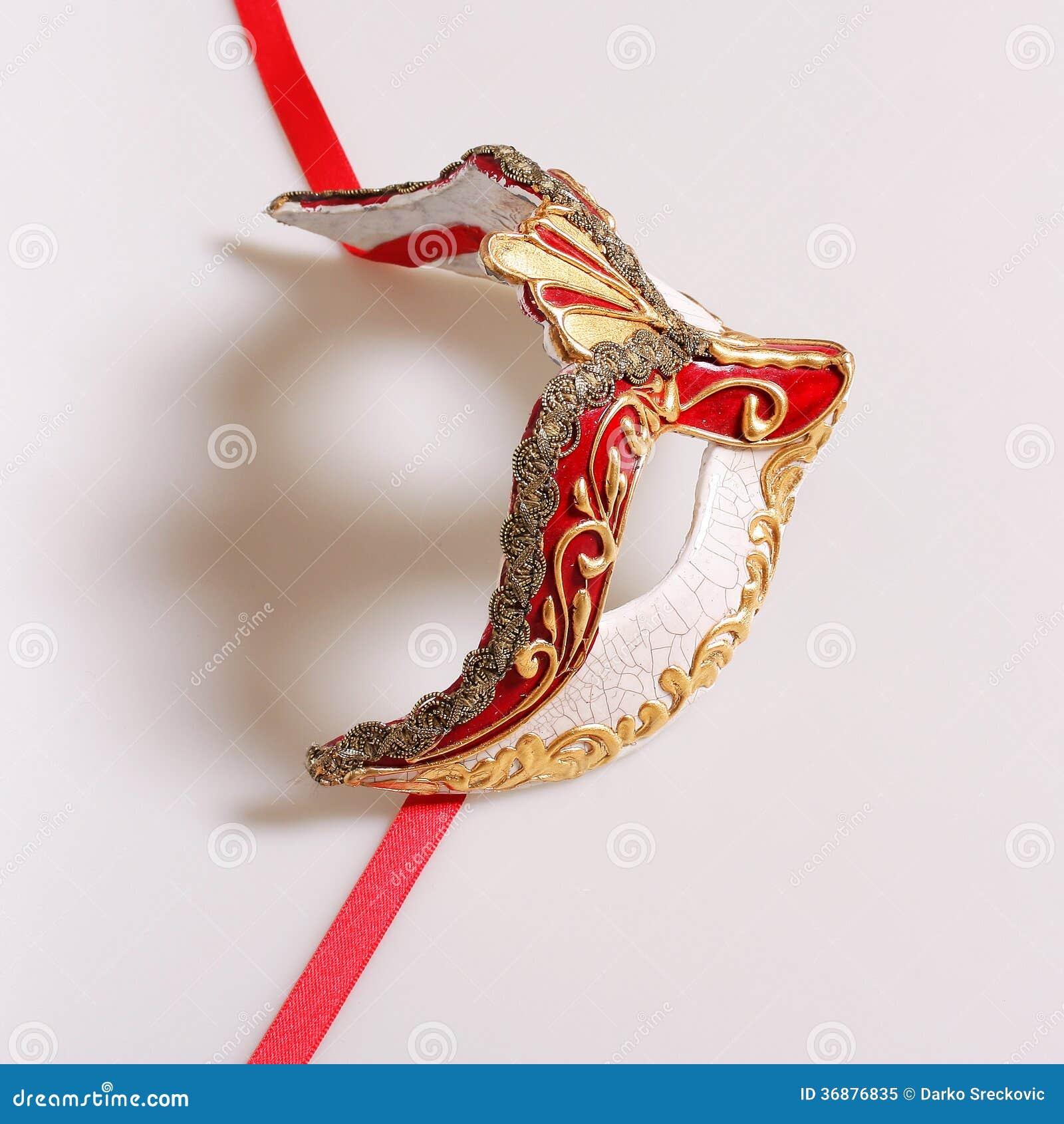 Download Maschera di Venecian immagine stock. Immagine di prestazioni - 36876835