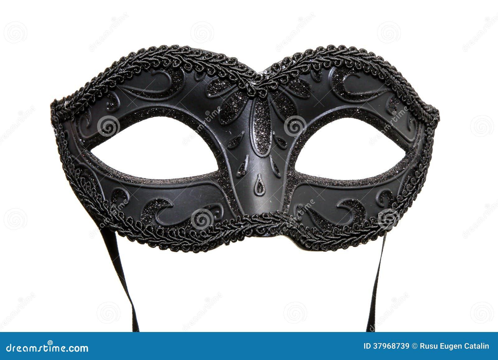 maschera nera di carnevale immagini stock libere da