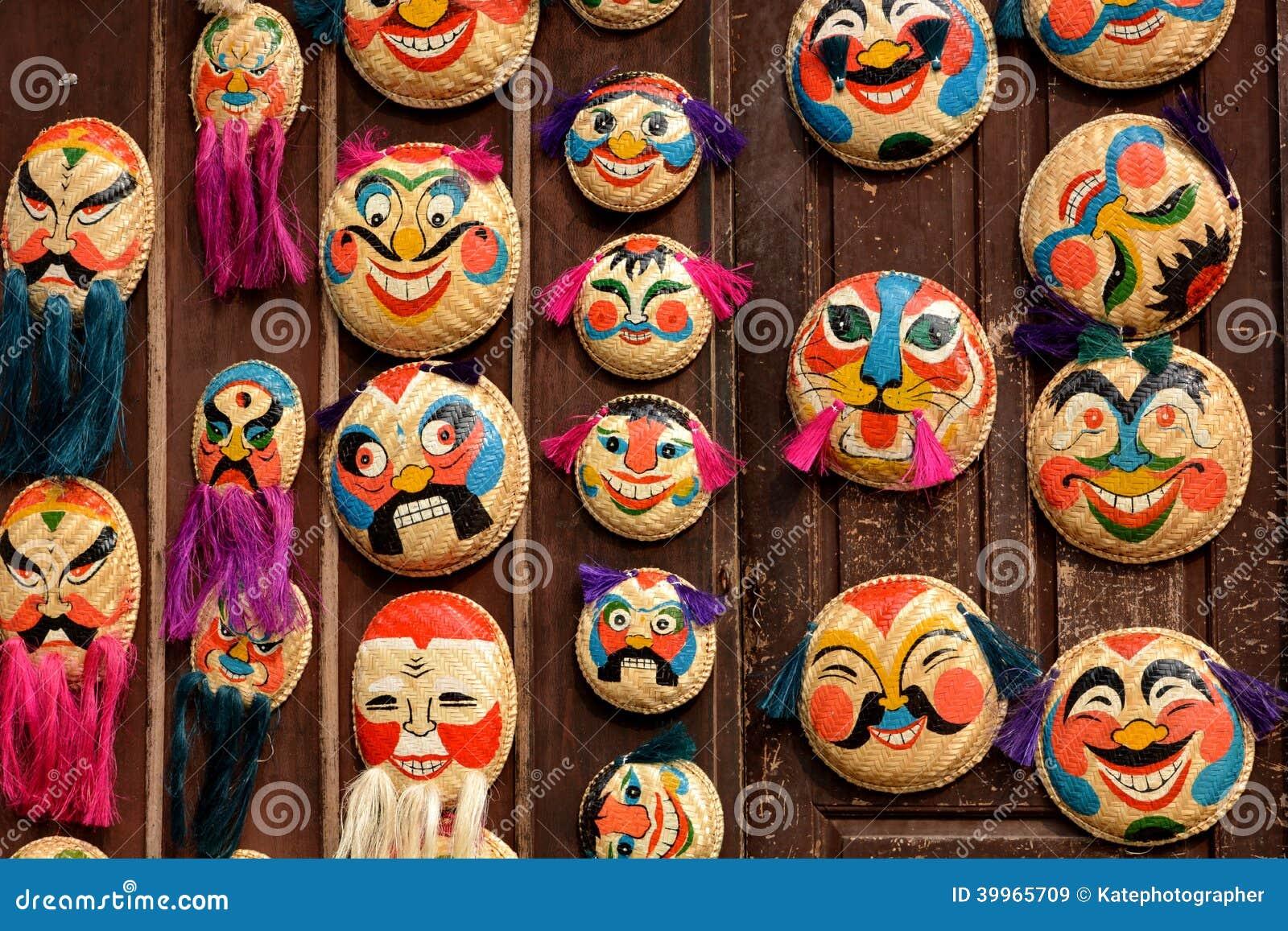 buono sconto vendite all'ingrosso accaparramento come merce rara Maschere Decorative Vietnamite Di Vecchio Stile. Immagine ...