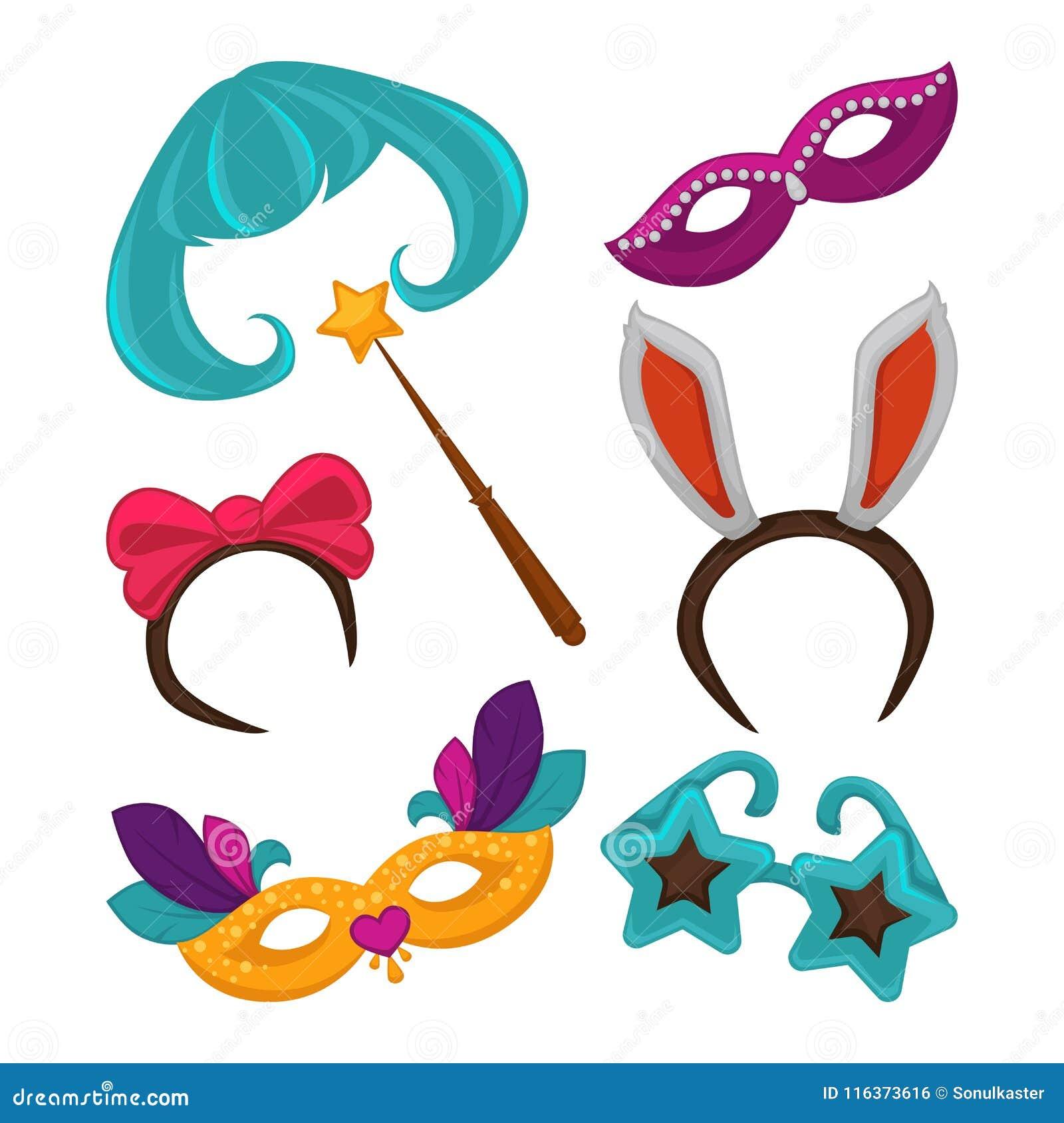 e4817121e5ac Maschere di carnevale ed accessori del costume di travestimento La maschera di  carnevale del partito della celebrazione di compleanno, il cappello e la ...
