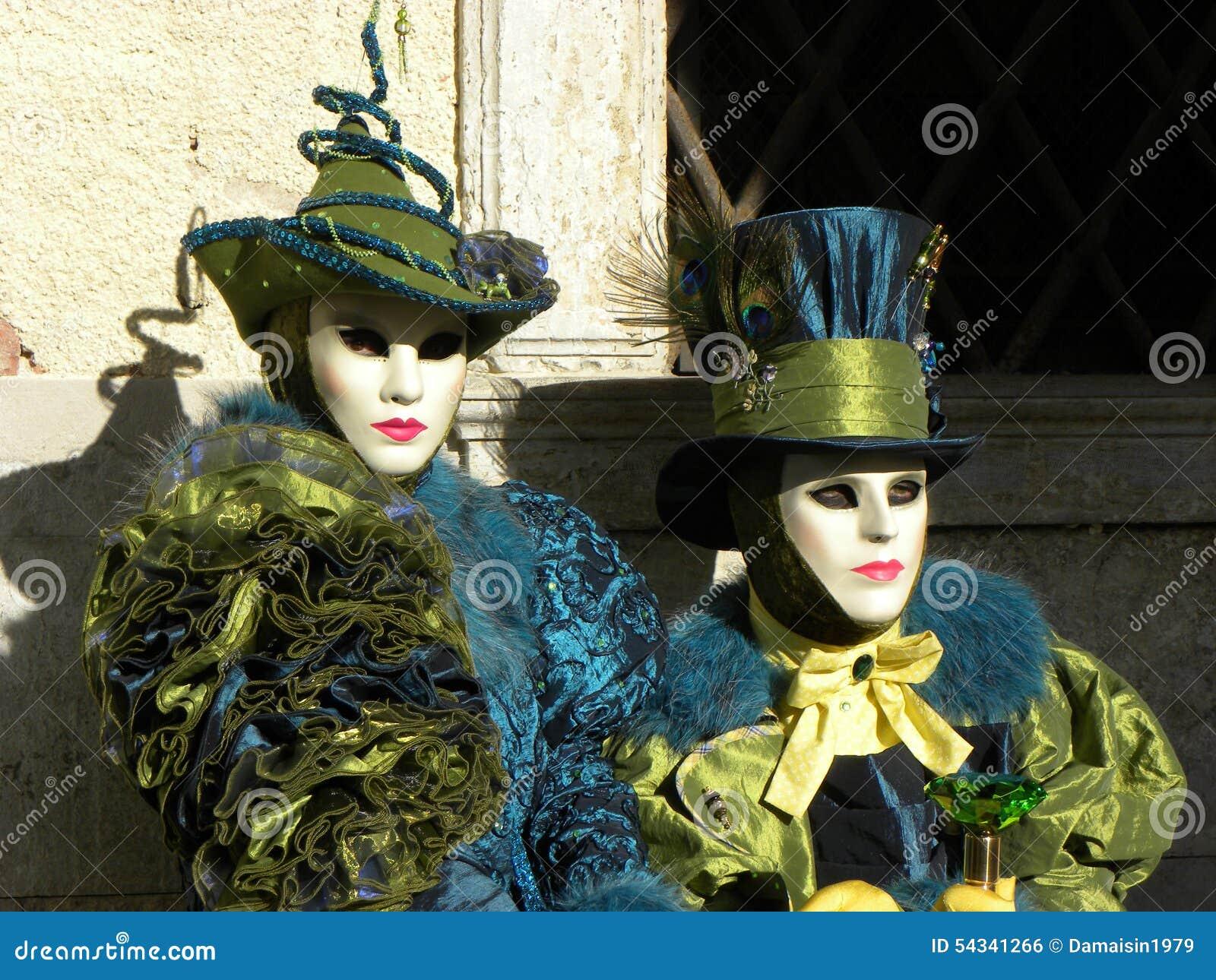 Maschere Fantastiche, Carnevale Di Venezia Fotografia Stock - Immagine: 54341266