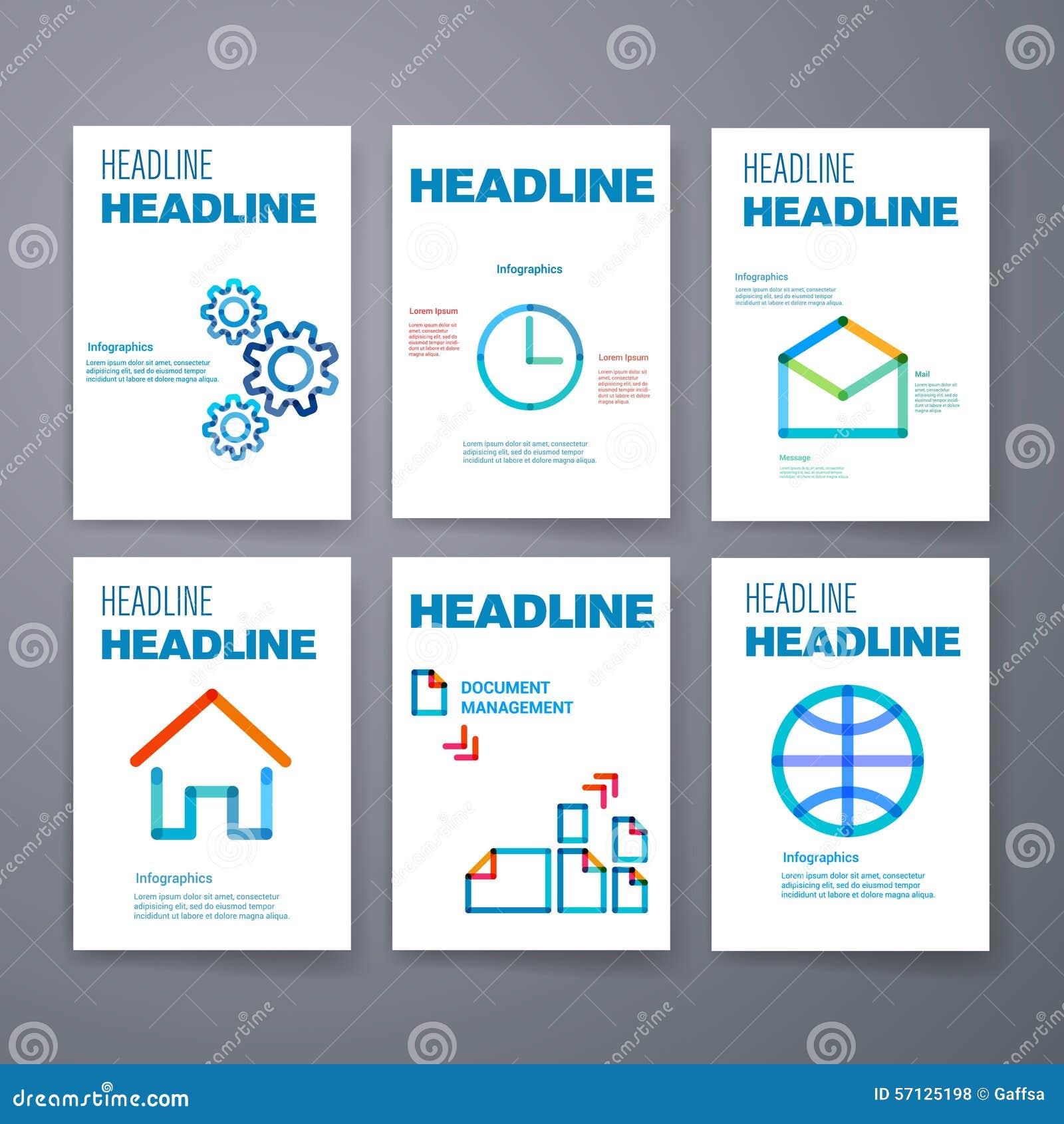 Mascherine Insieme di progettazione del web, posta, opuscoli