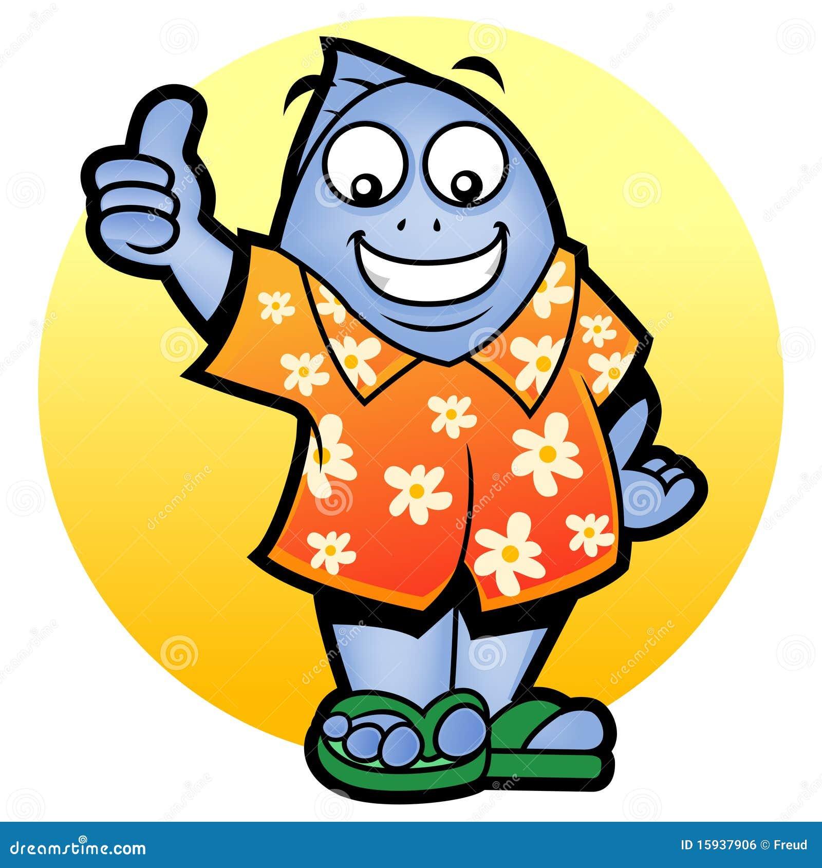 Mascot Fish Thumb Up Stock Illustration Illustration Of