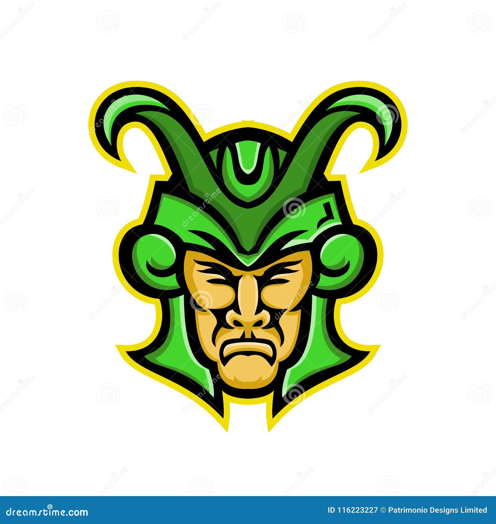 Loki Norse God Mascot Stock Vector Illustration Of Symbol 116223227