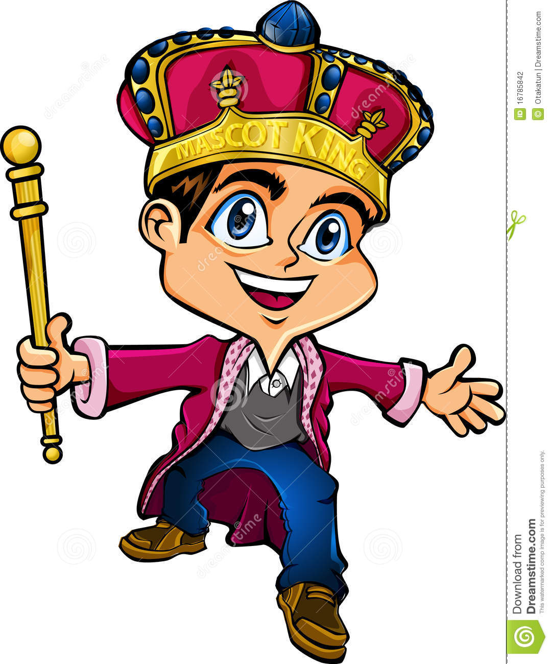 boy king character that also can be as a mascot for any of your ...