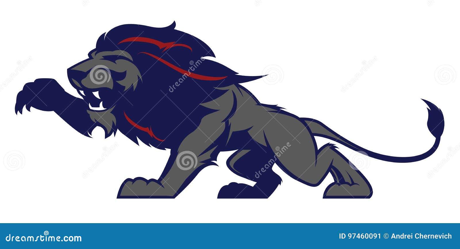 Mascota Del León, Versión Coloreada Grande Para Los Logotipos De Los ...