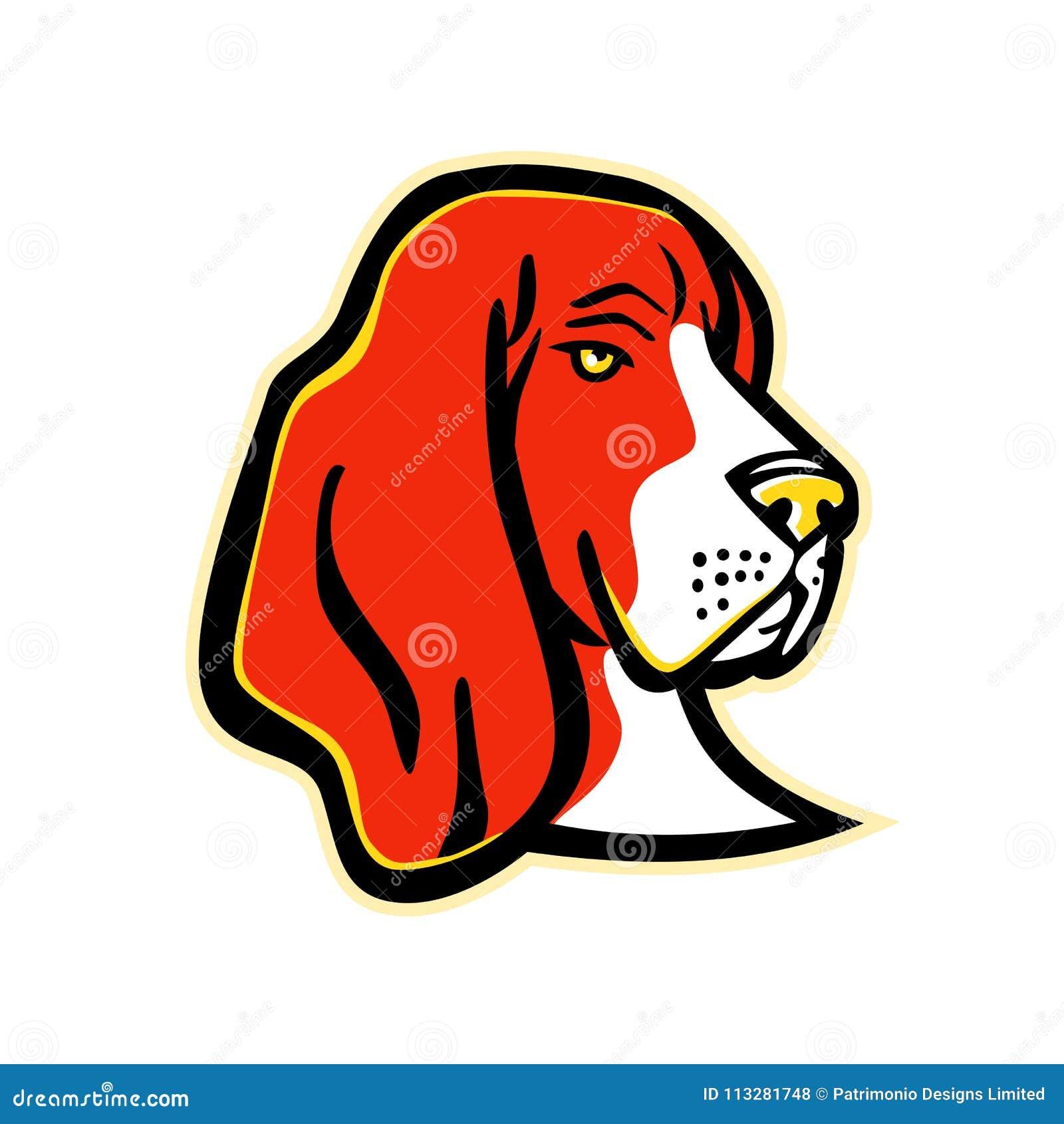 Mascota Del Perro De Basset Hound Ilustración Del Vector
