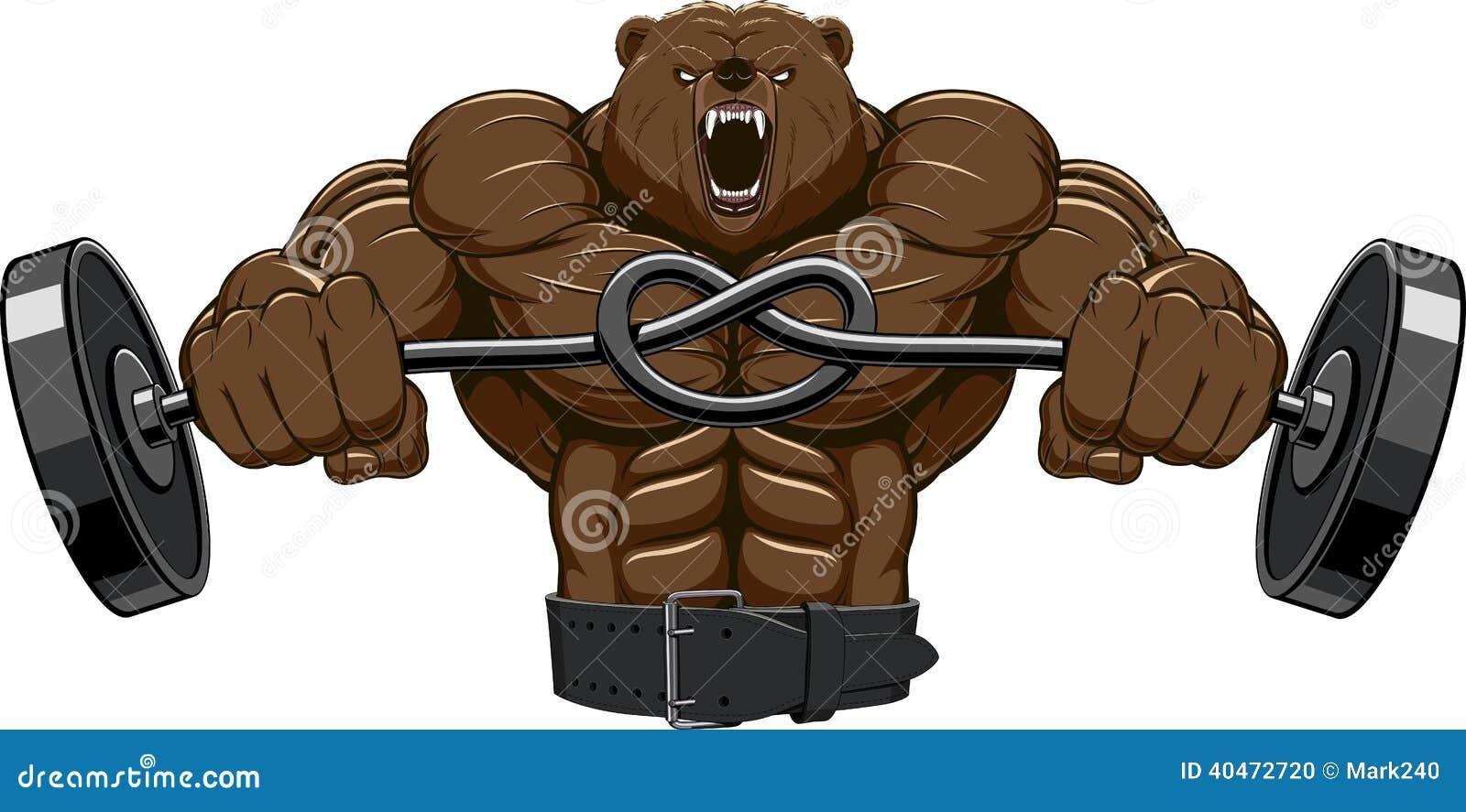 mascota enojada de la cabeza del oso ilustraci243n del