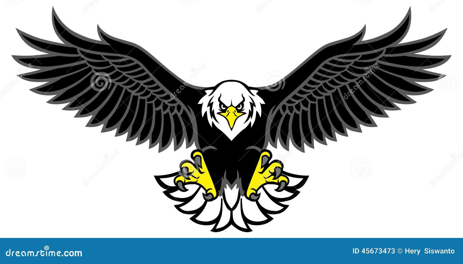 A mascote de Eagle espalhou as asas