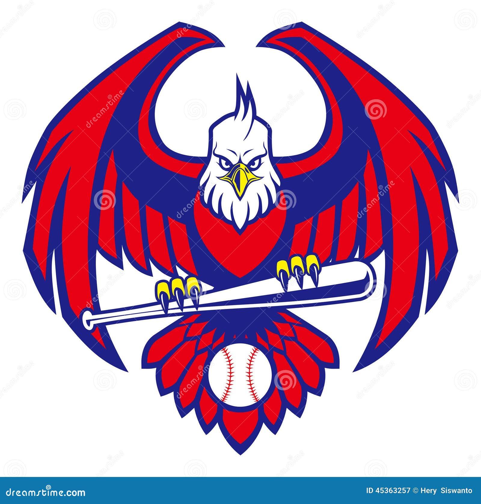 Mascotte de base-ball d Eagle