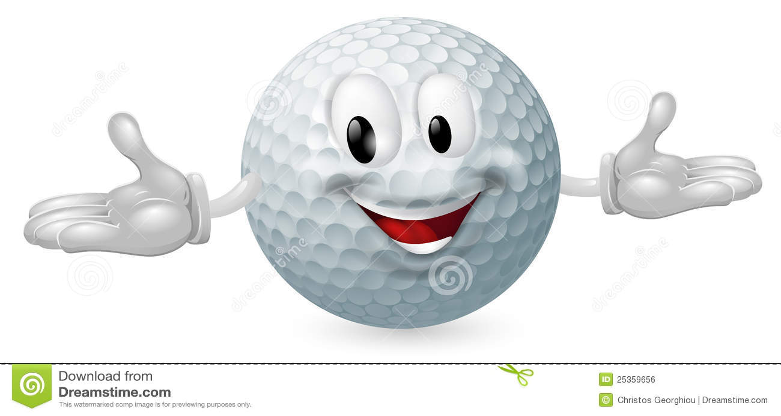 Mascotte de bille de golf