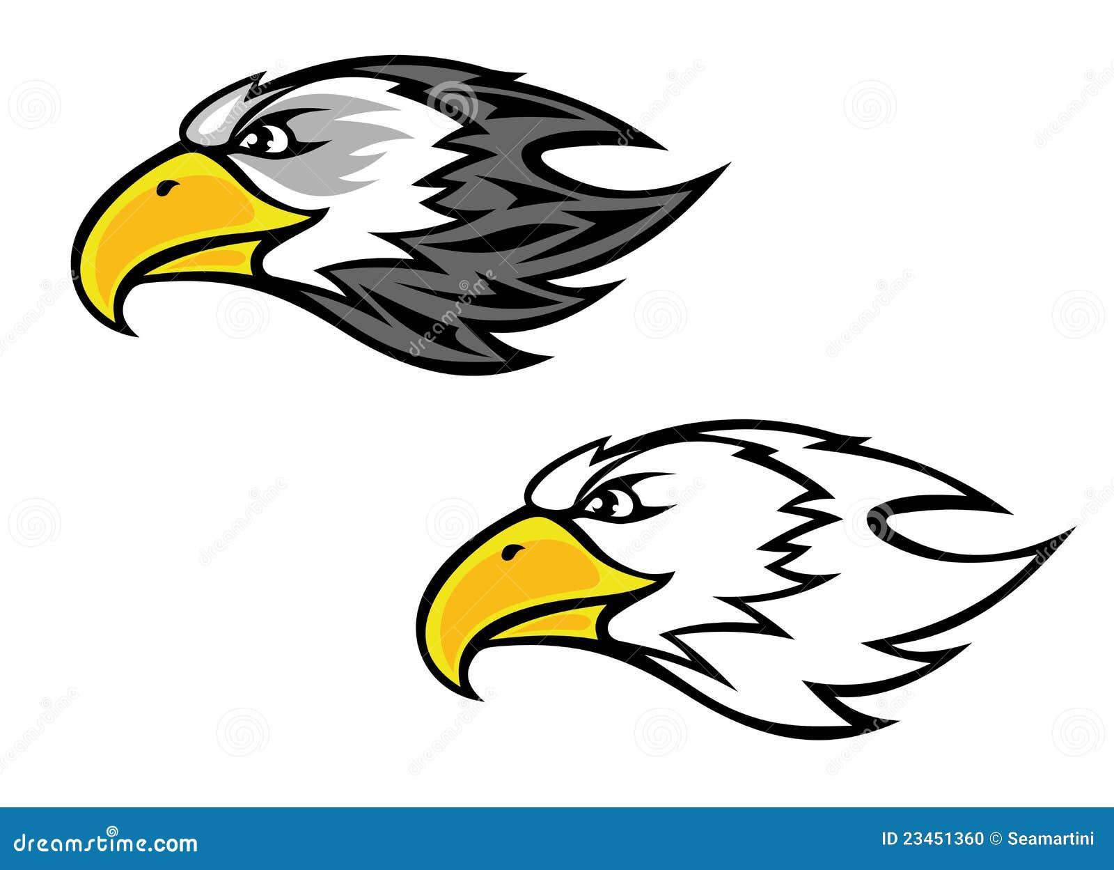 Mascotte de faucon illustration de vecteur illustration - Dessin de faucon ...