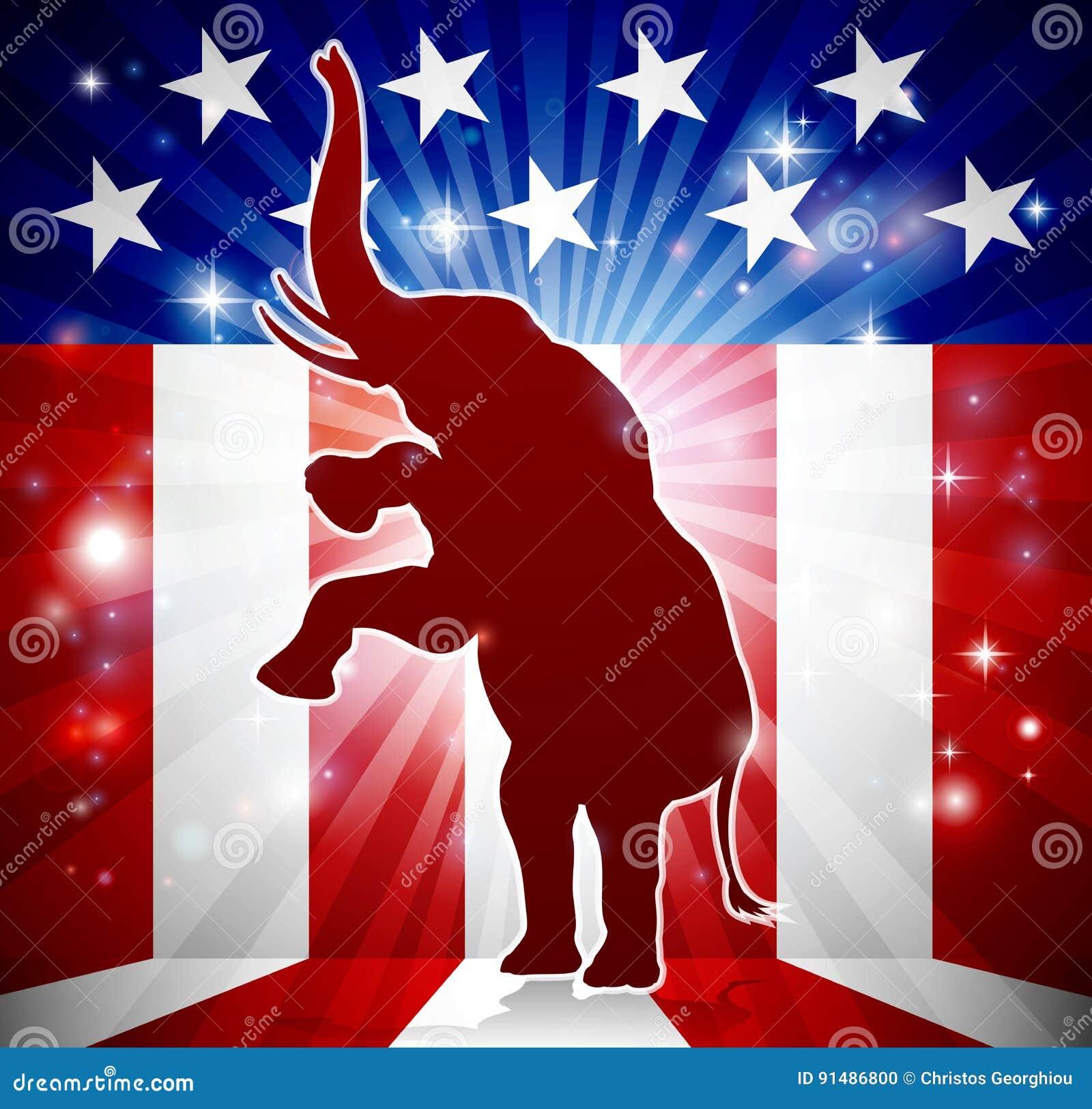 Mascotte politique d éléphant républicain