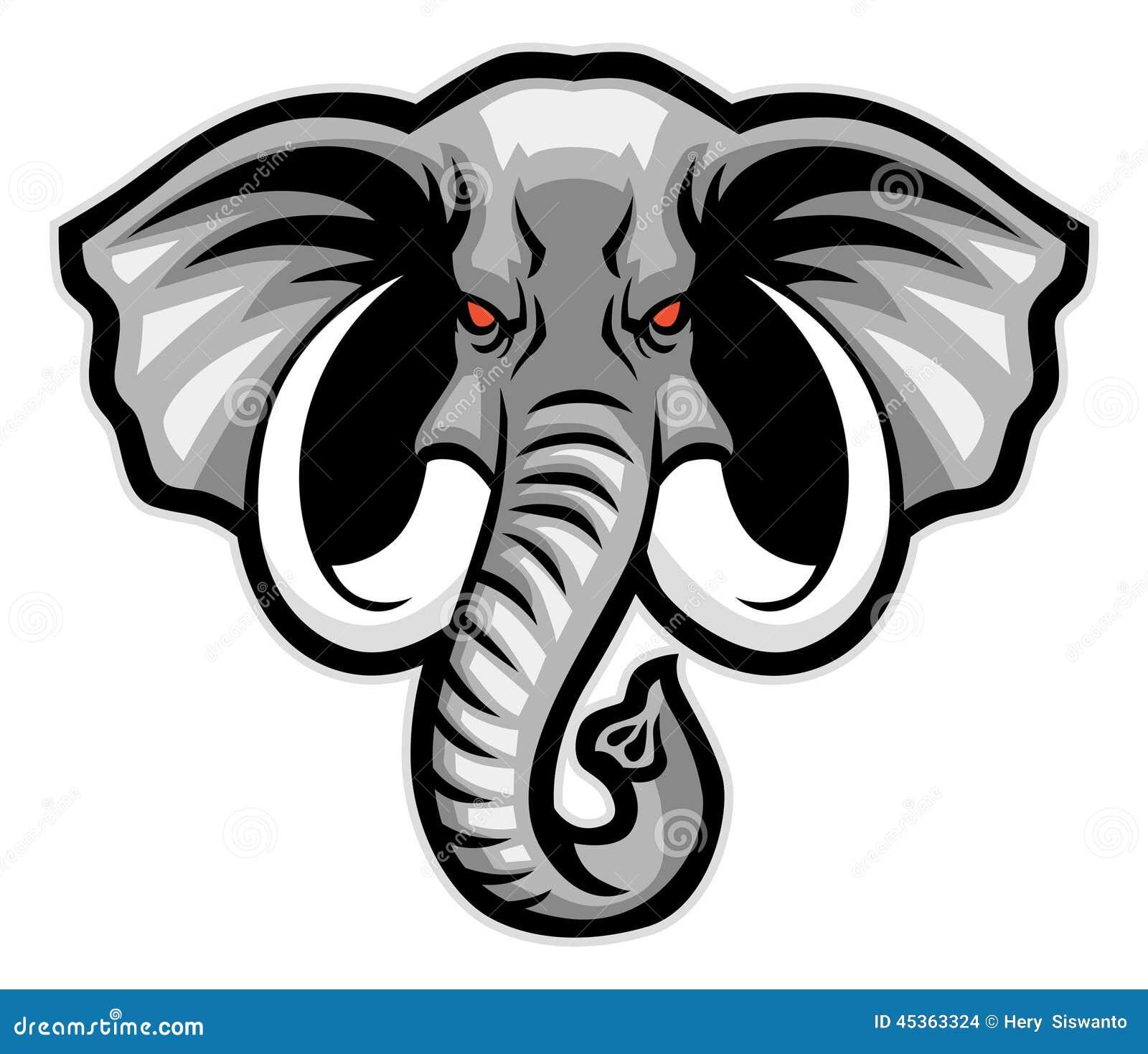 Mascotte principale d éléphant