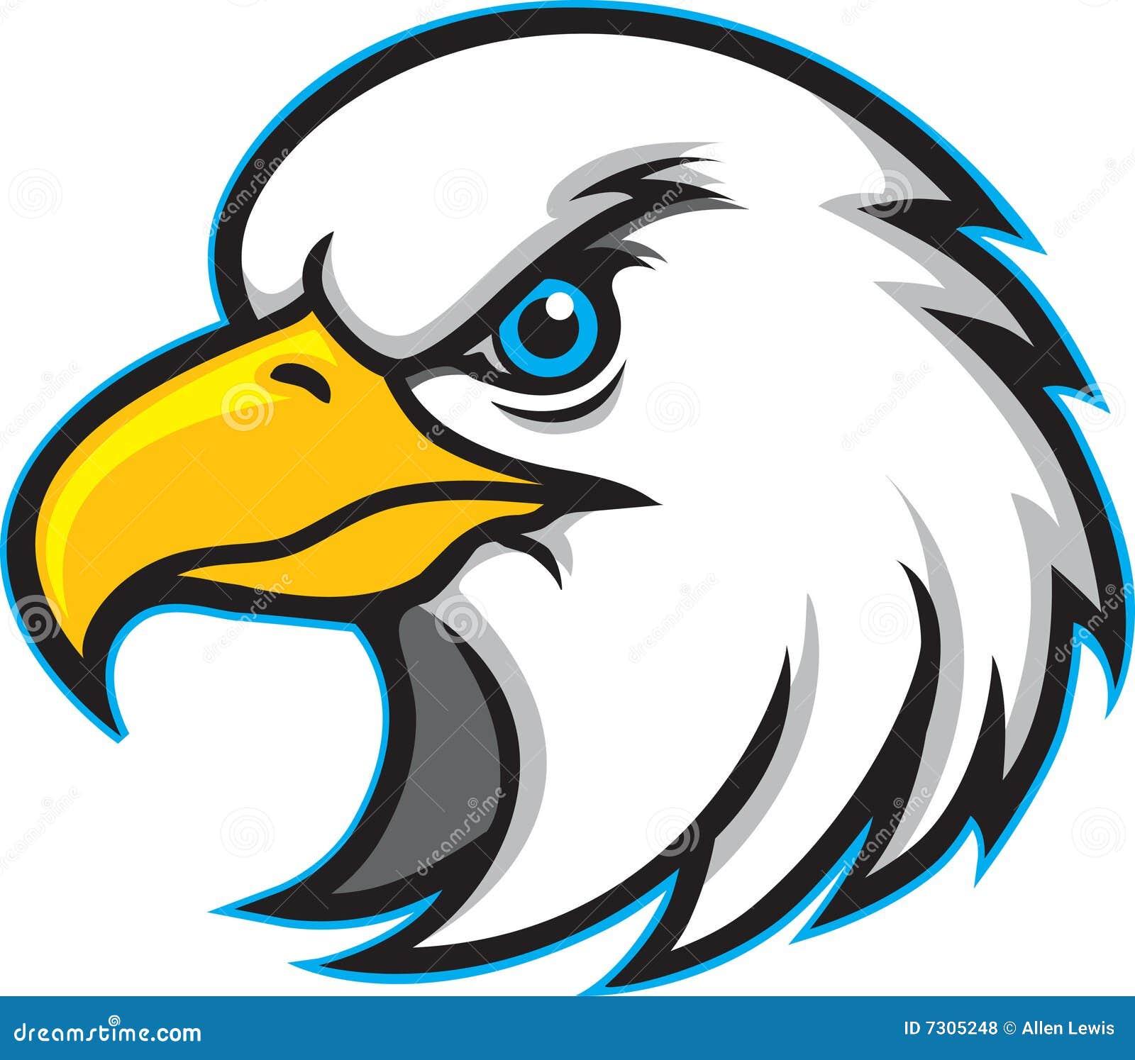 Connu Mascotte Principale De Logo D'aigle Illustration de Vecteur  VA62