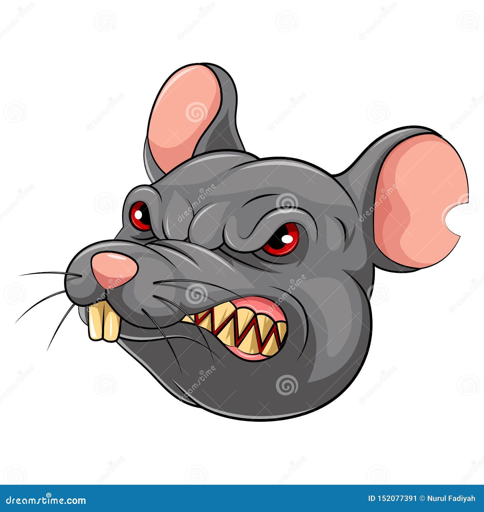 Mascottehoofd van een muis