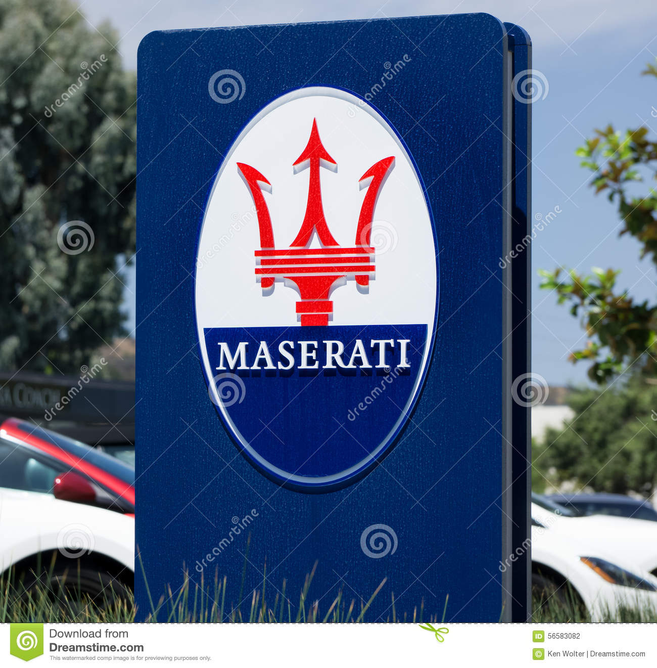 Maserati Dealership Sign And Logo Editorial Photography