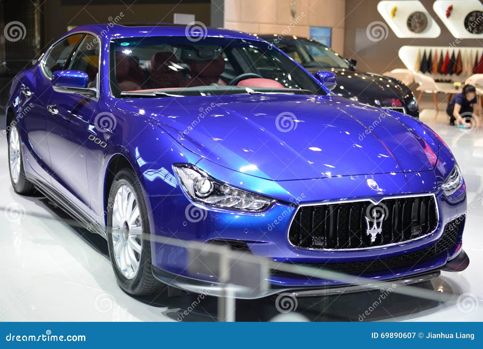 Ghibli D Exhibition : Maserati ghibli sportscar editorial photography image of ghibli