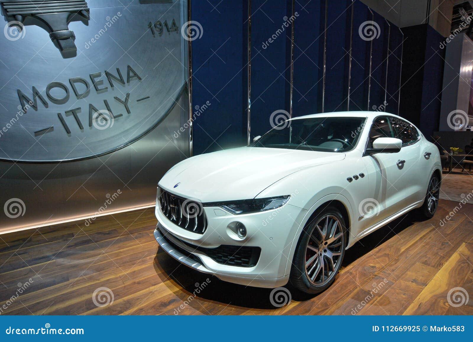 88th Geneva International Motor Show 2018 Maserati Levante Editorial Image Image Of America Built 112669925