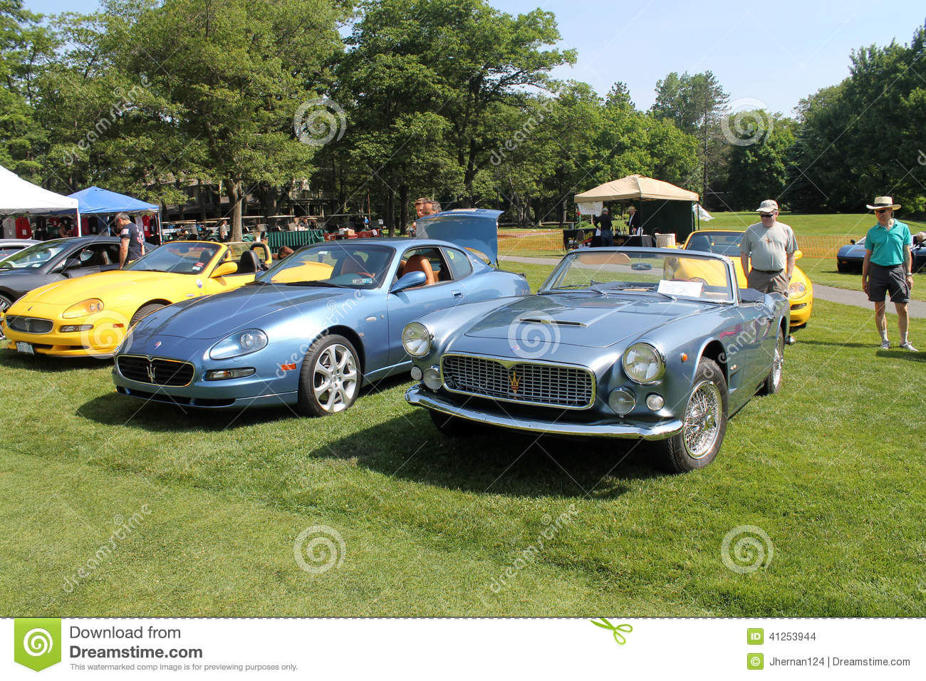 Maserati Sports Cars In Lineup New And Old Editorial Stock Image ...
