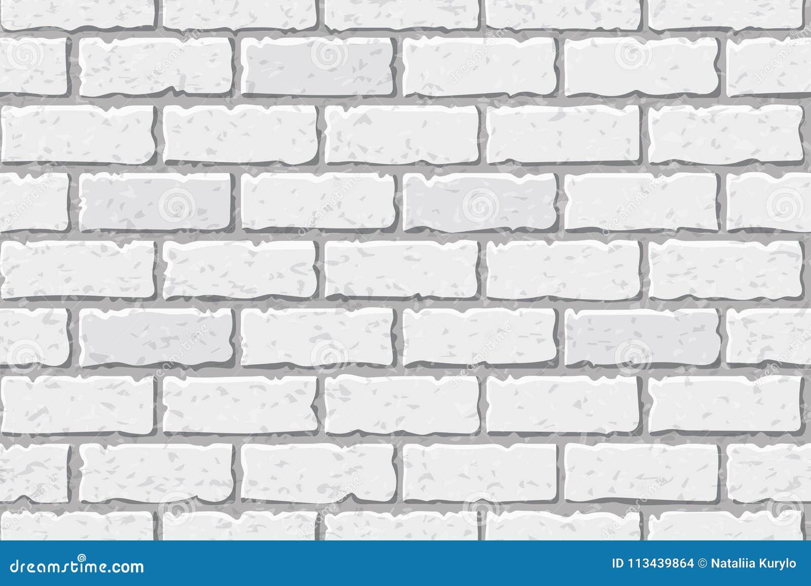 Masern Sie den weißen Ziegelstein, nahtlos, Ziegelsteinhintergrund Muster