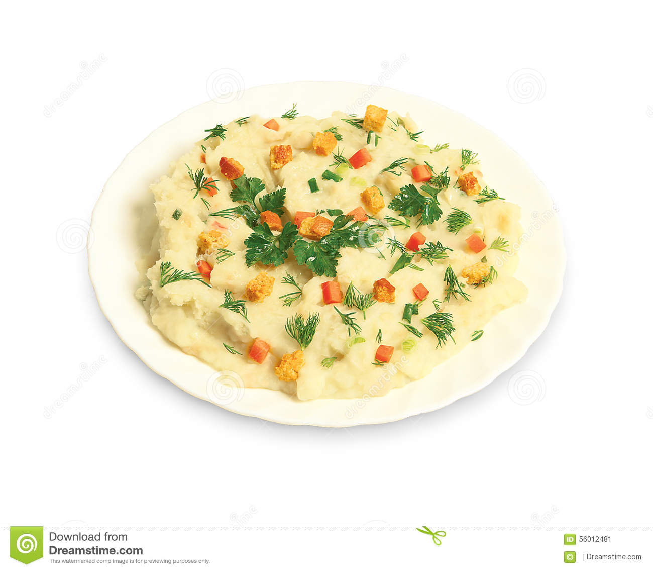 Mashed Potato Croutons Stock Photo - Image: 56012481