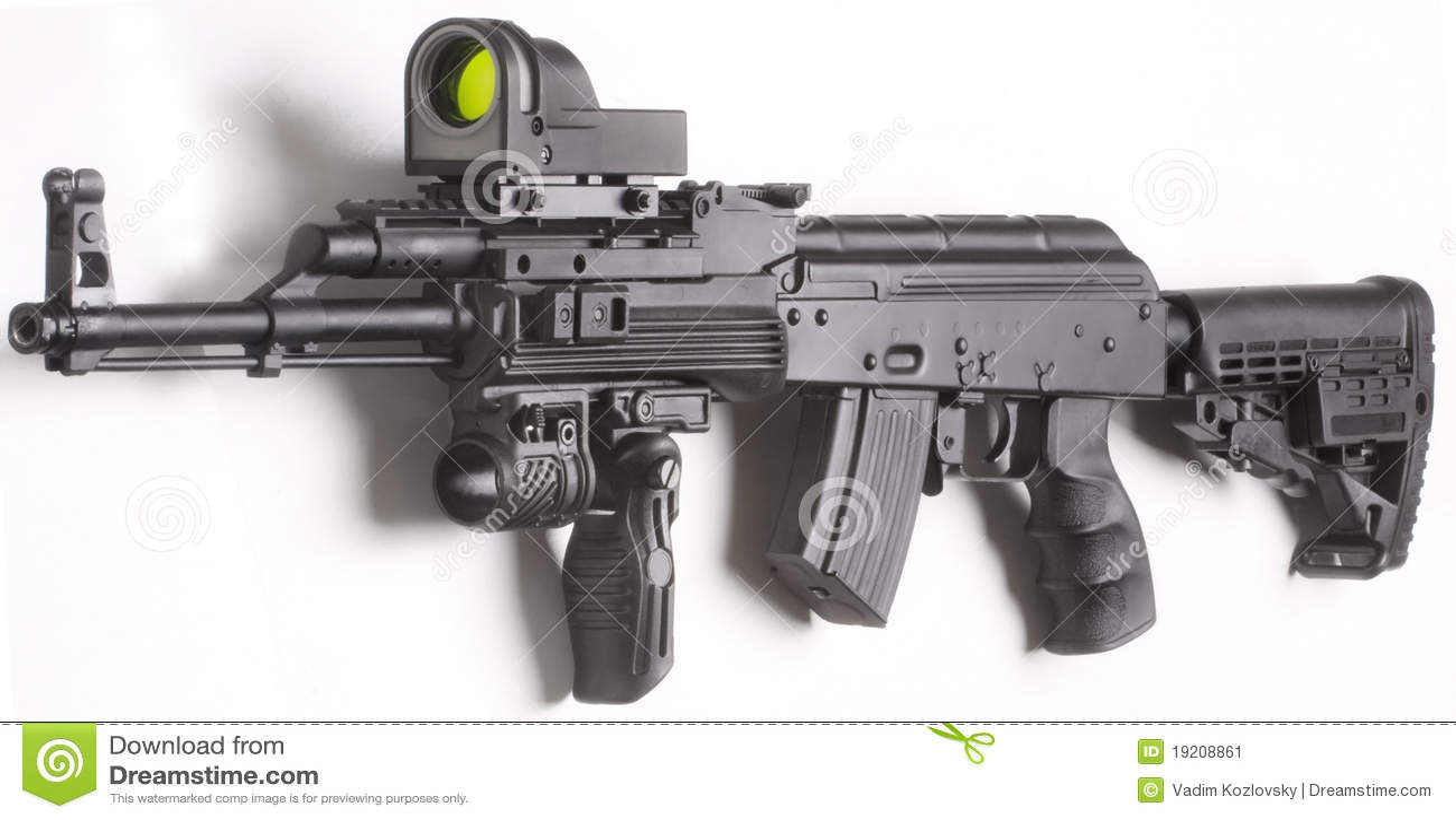 all alone machine gun