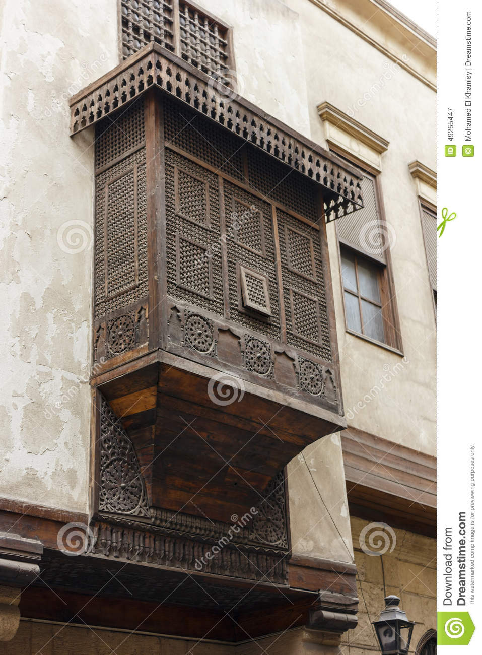 Mashrabiya , Is The Arabic Term Given To A Type Of Oriel Window Stock