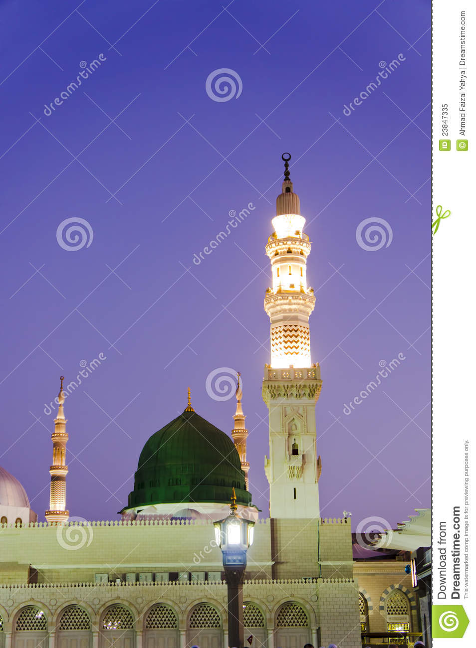 Masjid Al Nabawi or Nabawi Mosque in Medina.