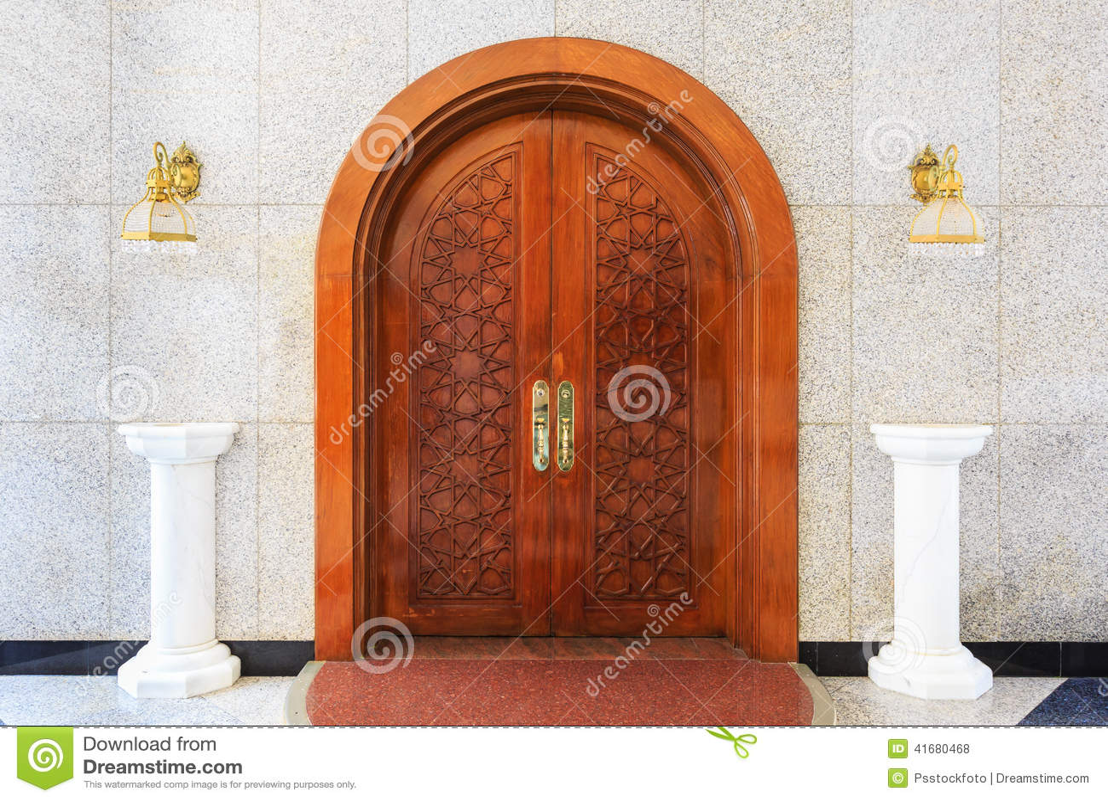 Royalty-Free Stock Photo. Download Masjid Door ... & Masjid Door Stock Photo - Image: 41680468 pezcame.com