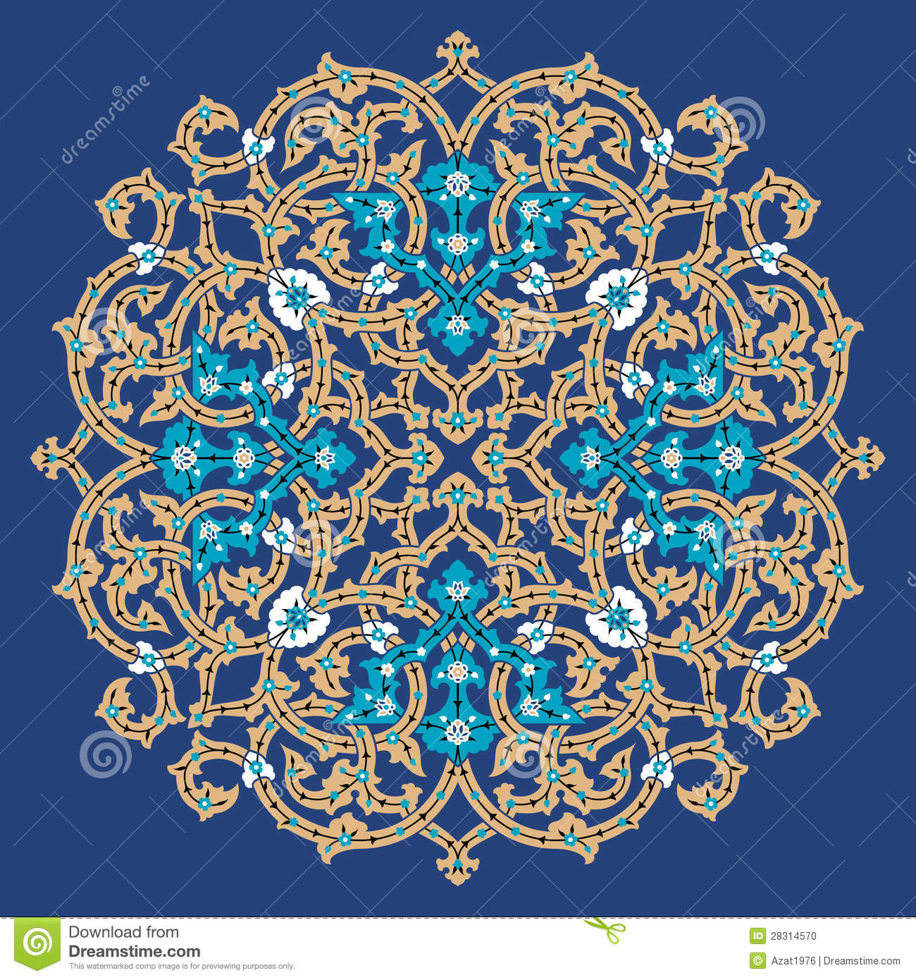Traditional Arabic Design. Floral Motif.
