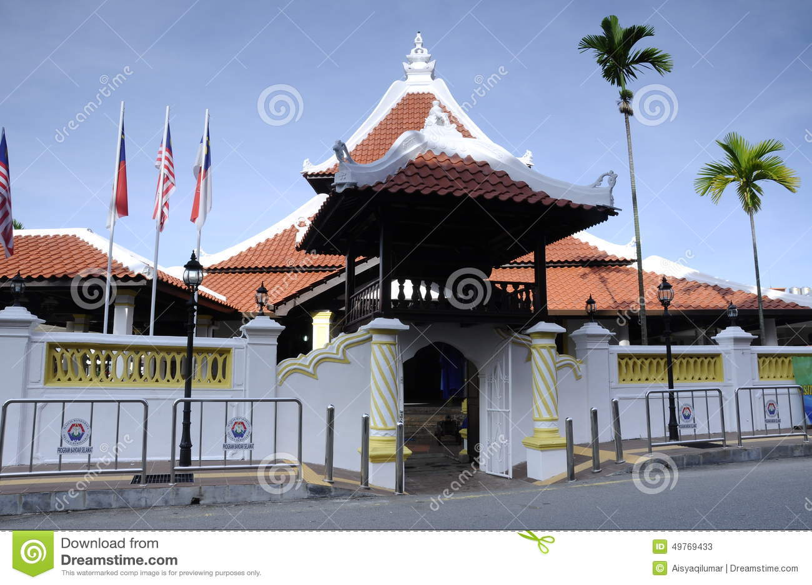 Masjid Kampung Hulu In Malacca Malaysia Stock Image Image Of Exterior Element 49769433