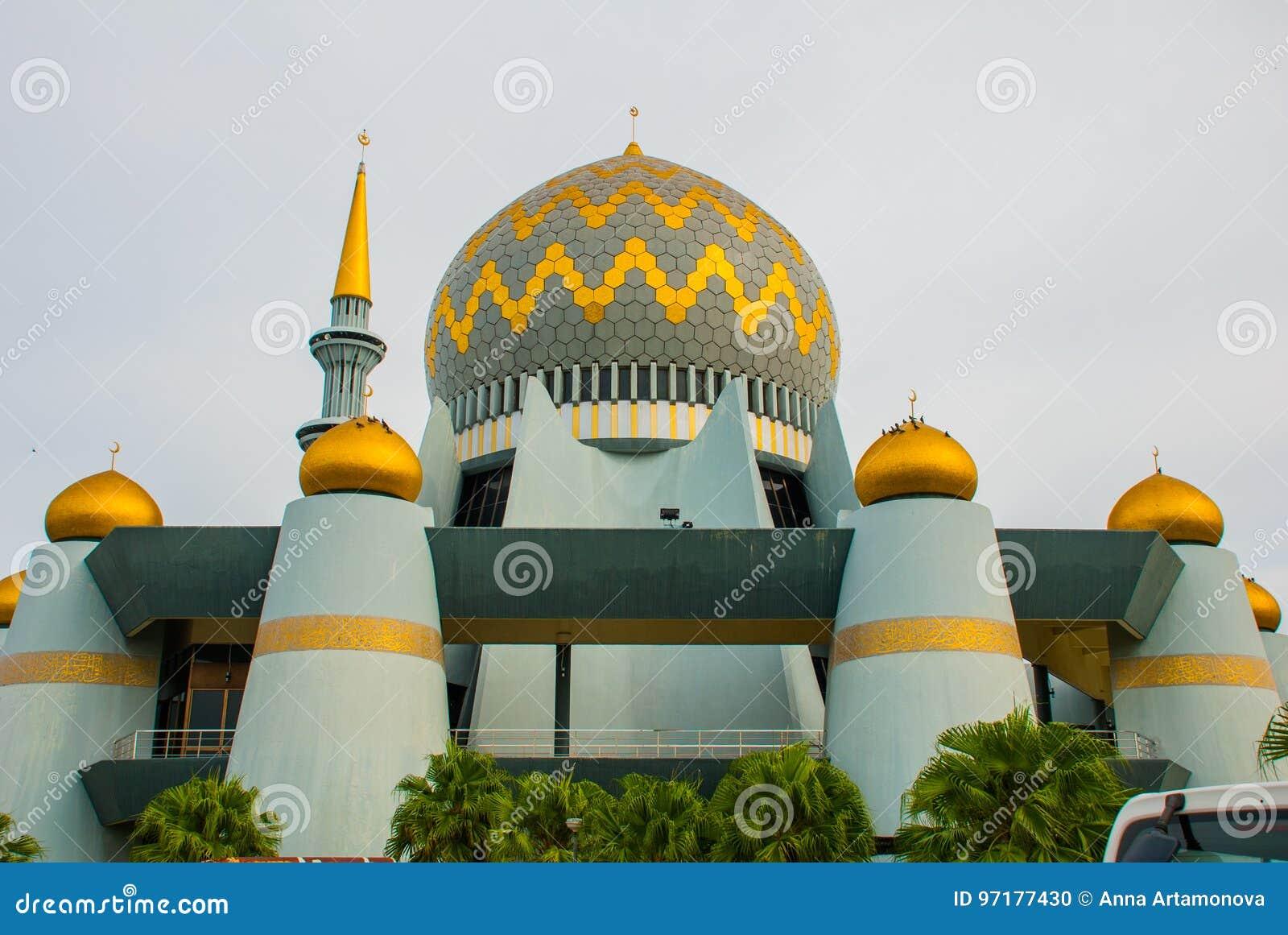 Masjid Negeri Sabah stanu meczet Sabah, Malezja kinabalu kota mt