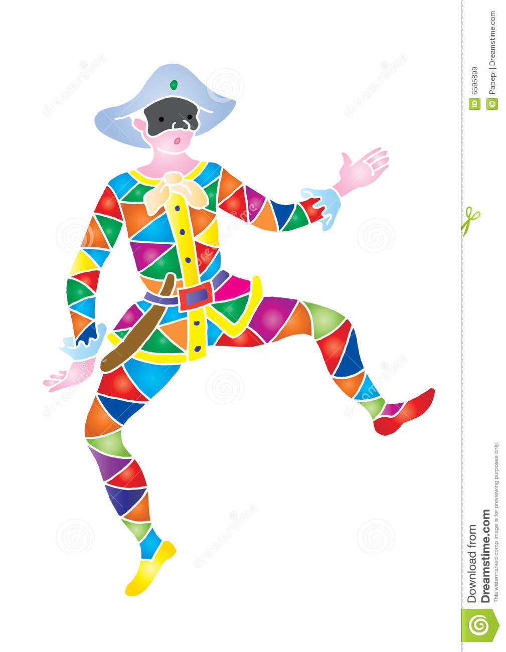 Mask arlecchino royalty free stock images image 6595899 for Arlecchino da colorare