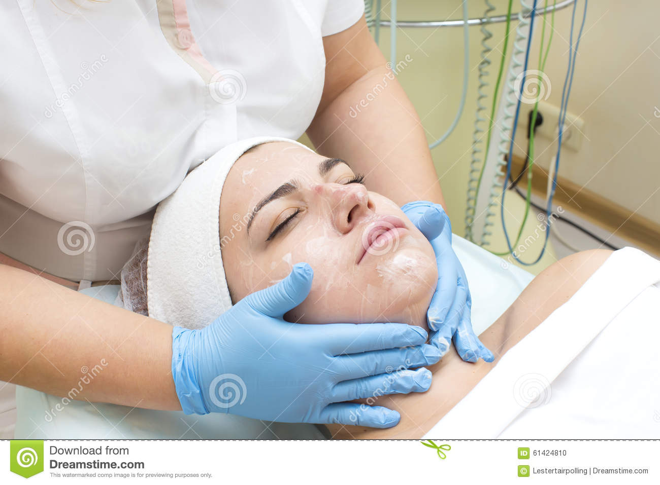 Mask facial stock photo image 61424810 for A trial beauty treatment salon
