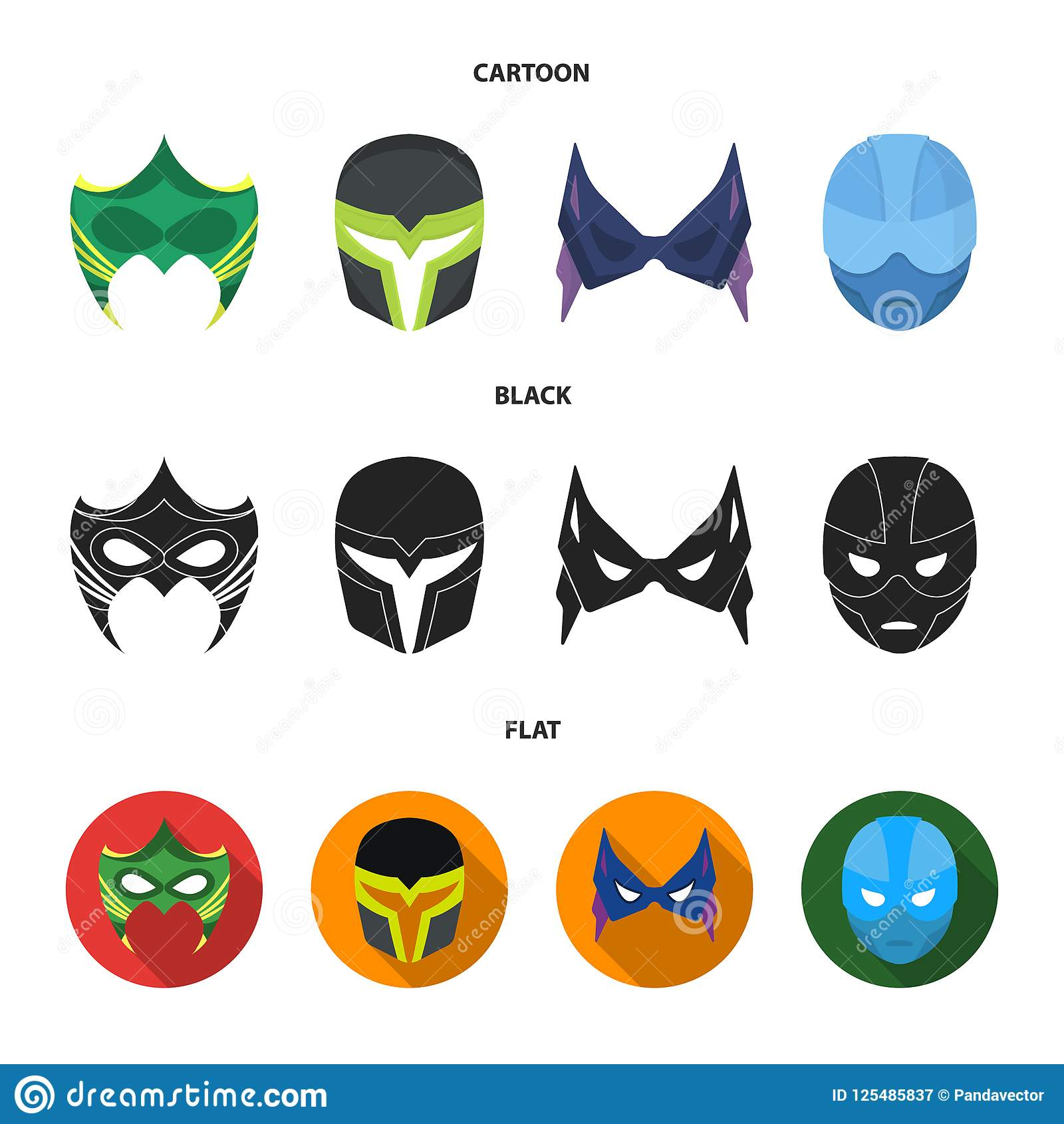 Mask On The Head And Eyes  Super Hero Mask Set Collection