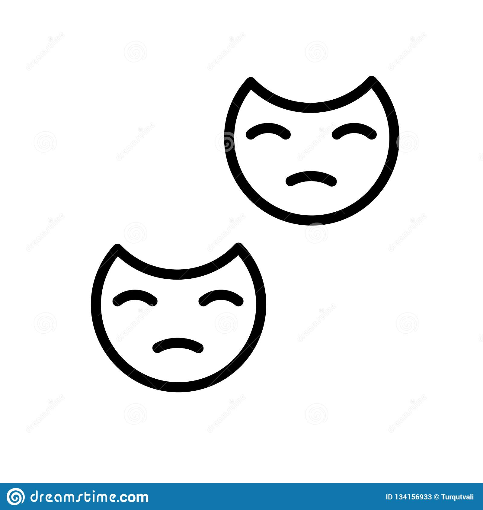 Mask icon vector isolated on white background, Mask sign , line and outline elements in linear style
