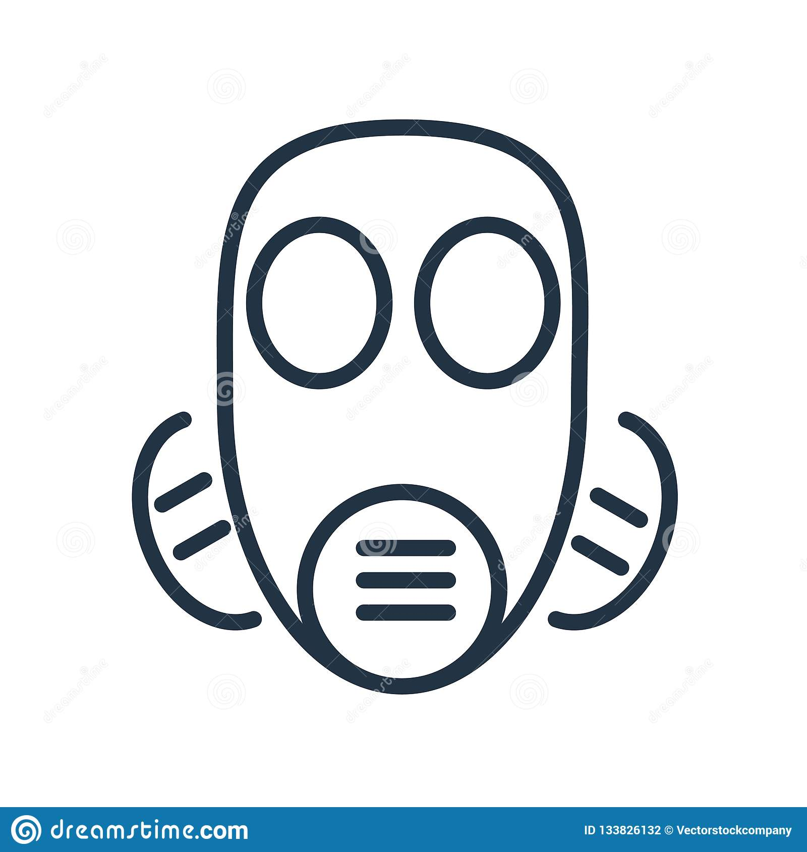 Mask icon vector isolated on white background, Mask sign