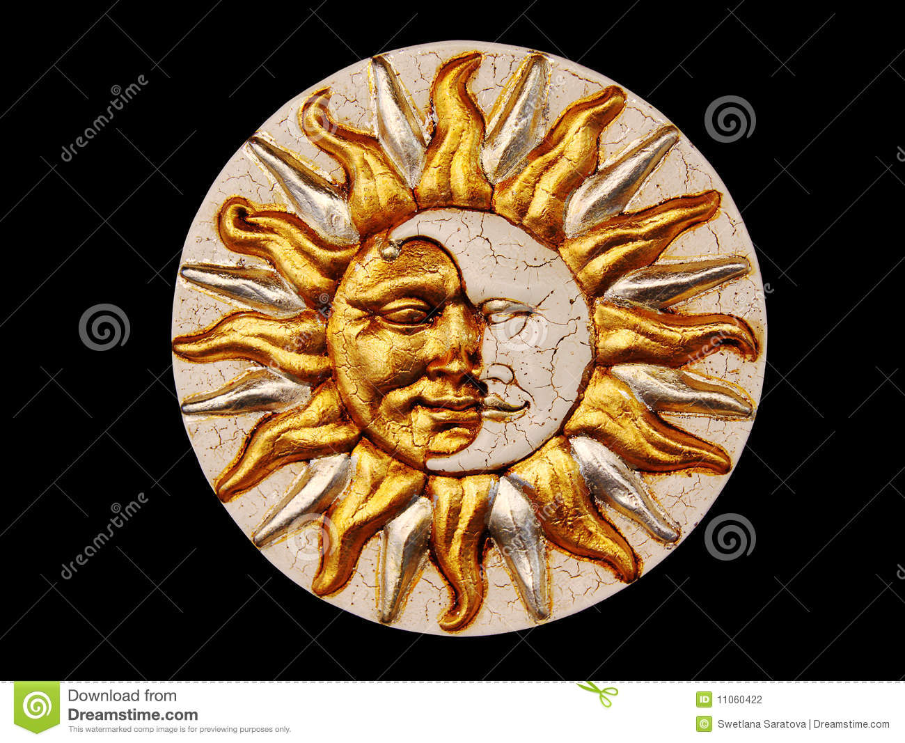 Mask The Moon And The Sun Stock Photography Image 11060422