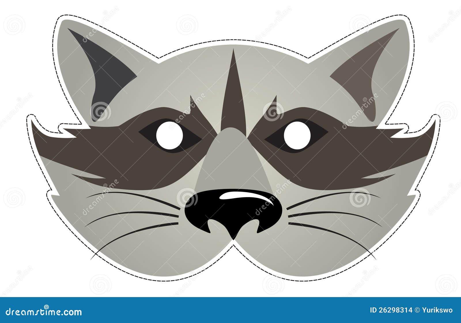 Mask Raccoon Stock Vector Illustration Of Festival