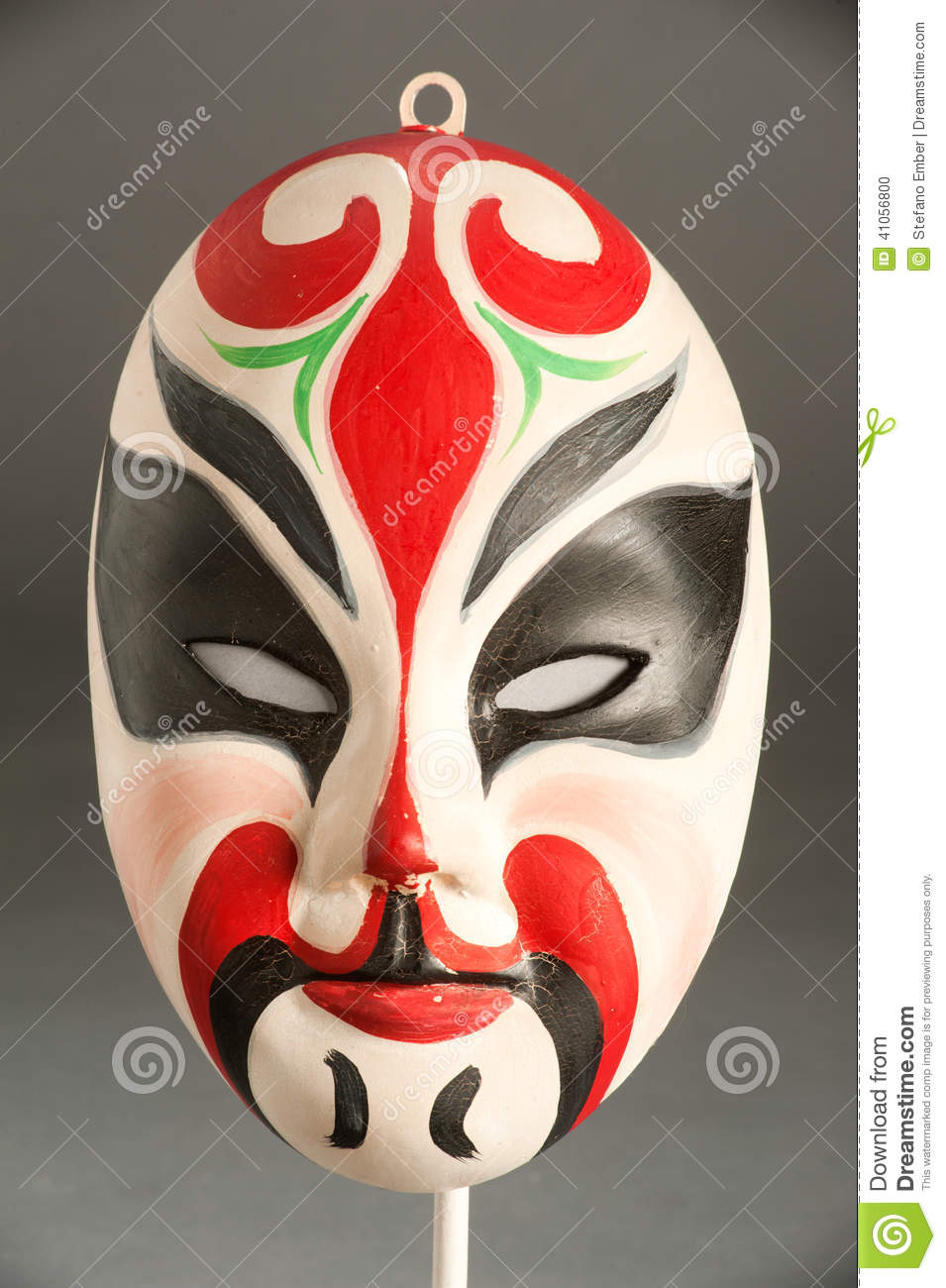 Mask Of A Traditional Chinese Theater Stock Photo - Image ...