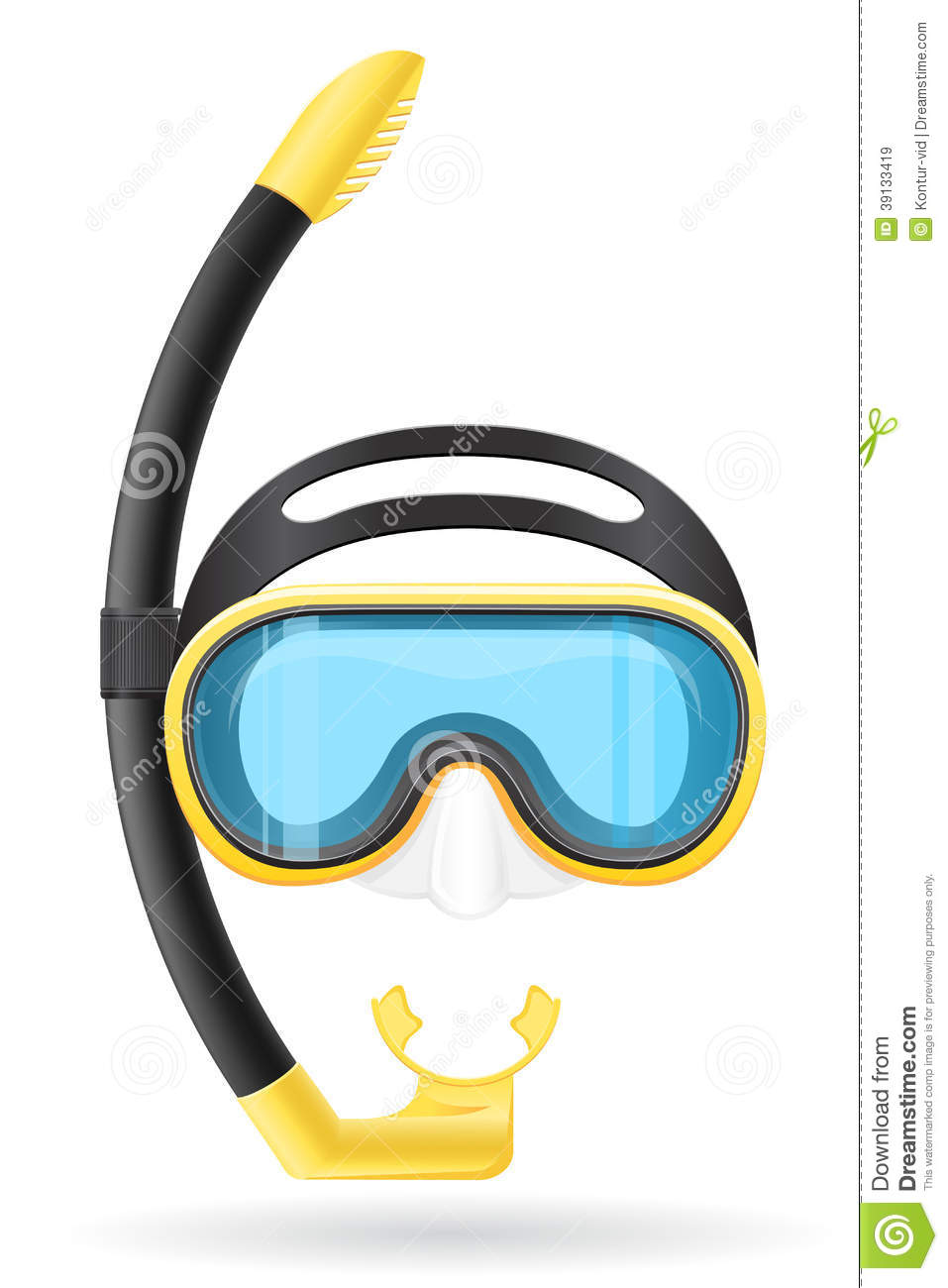 Goggles For Diving Vector Icon Vector Illustration ...