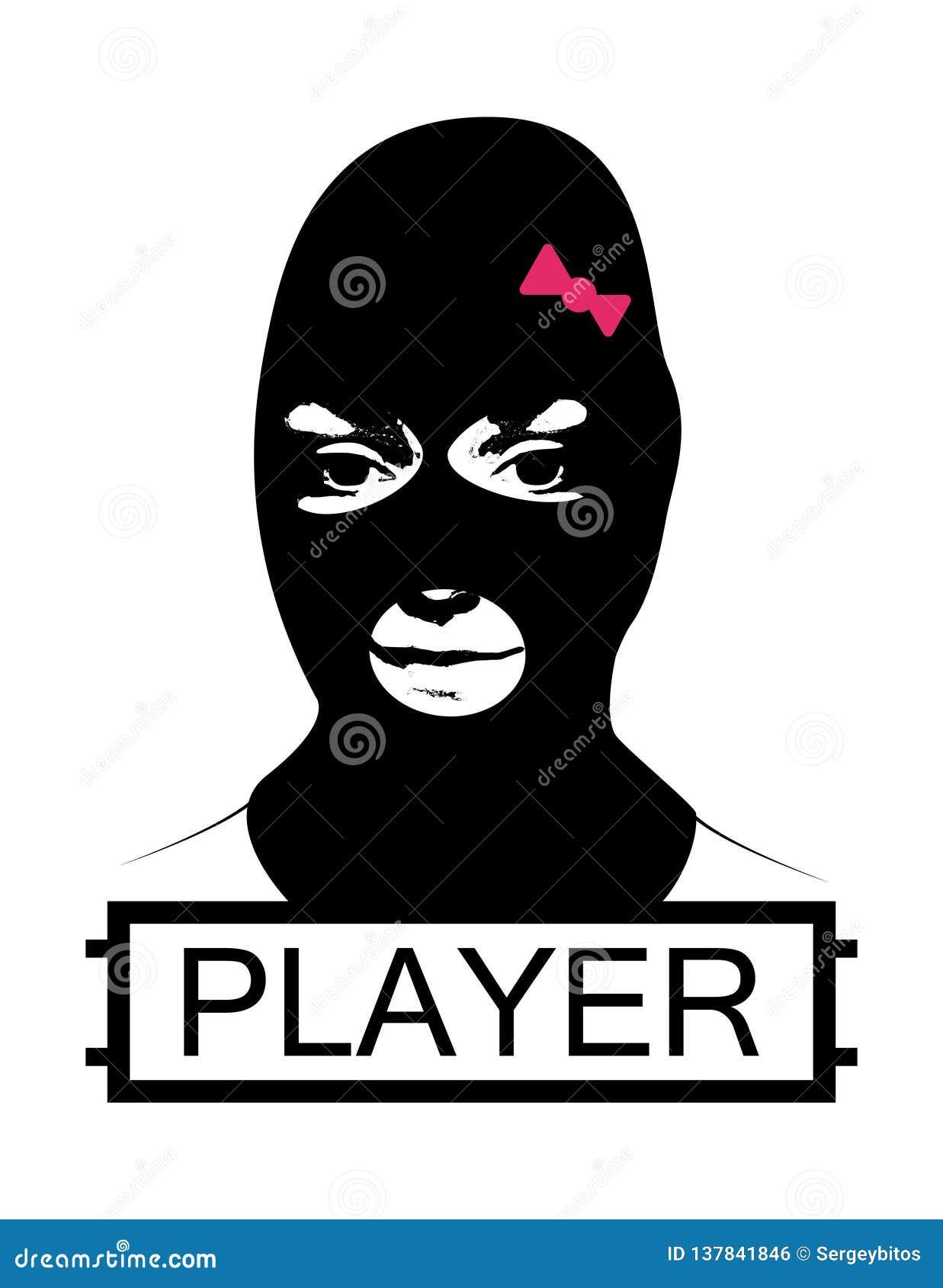 Masked Girl Pubg Concept Stock Vector Illustration Of Mask