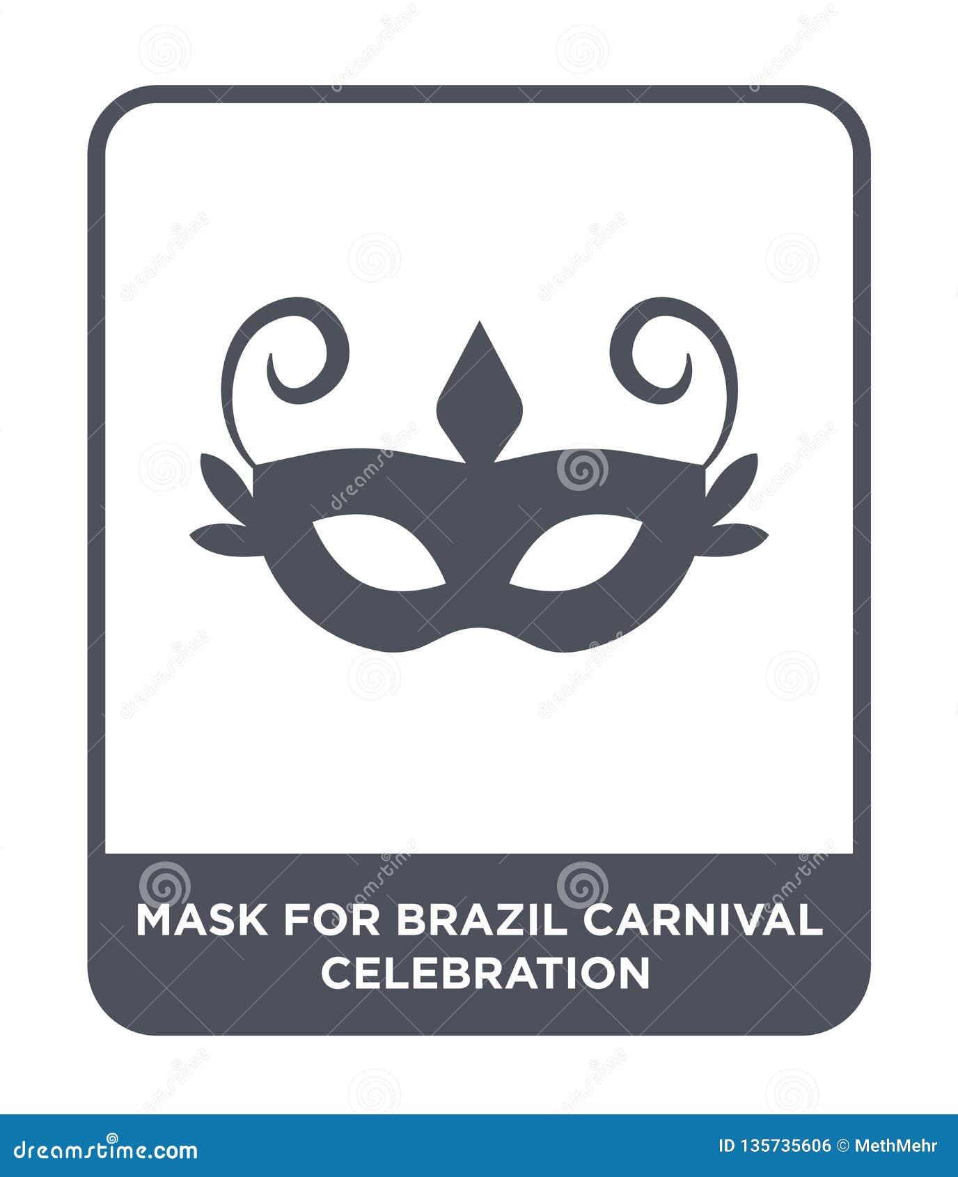 Masker voor de vieringspictogram van Brazilië Carnaval in in ontwerpstijl masker voor de vieringspictogram van Brazilië Carnaval