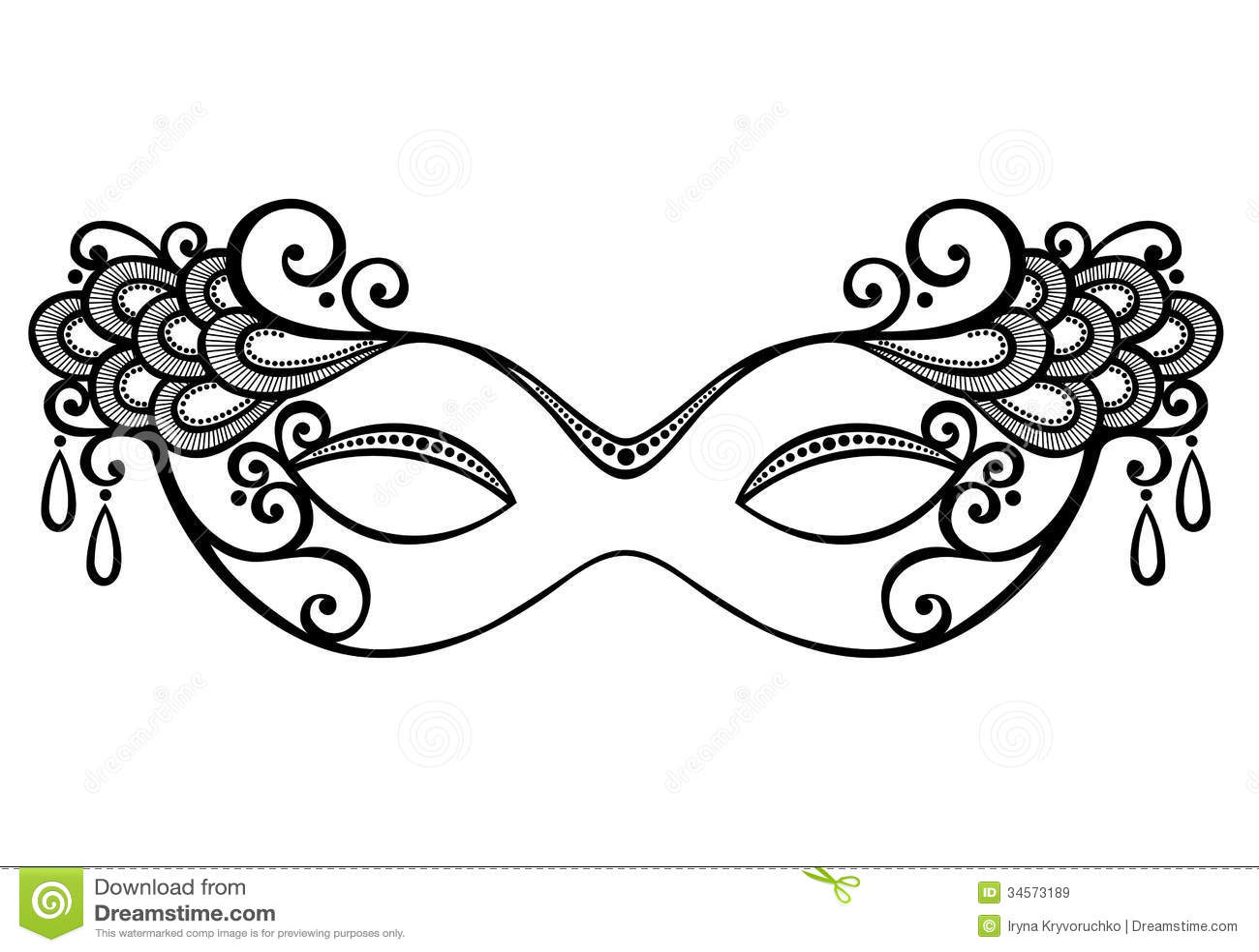 Maskerademasker Vector Illustratie Afbeelding Bestaande