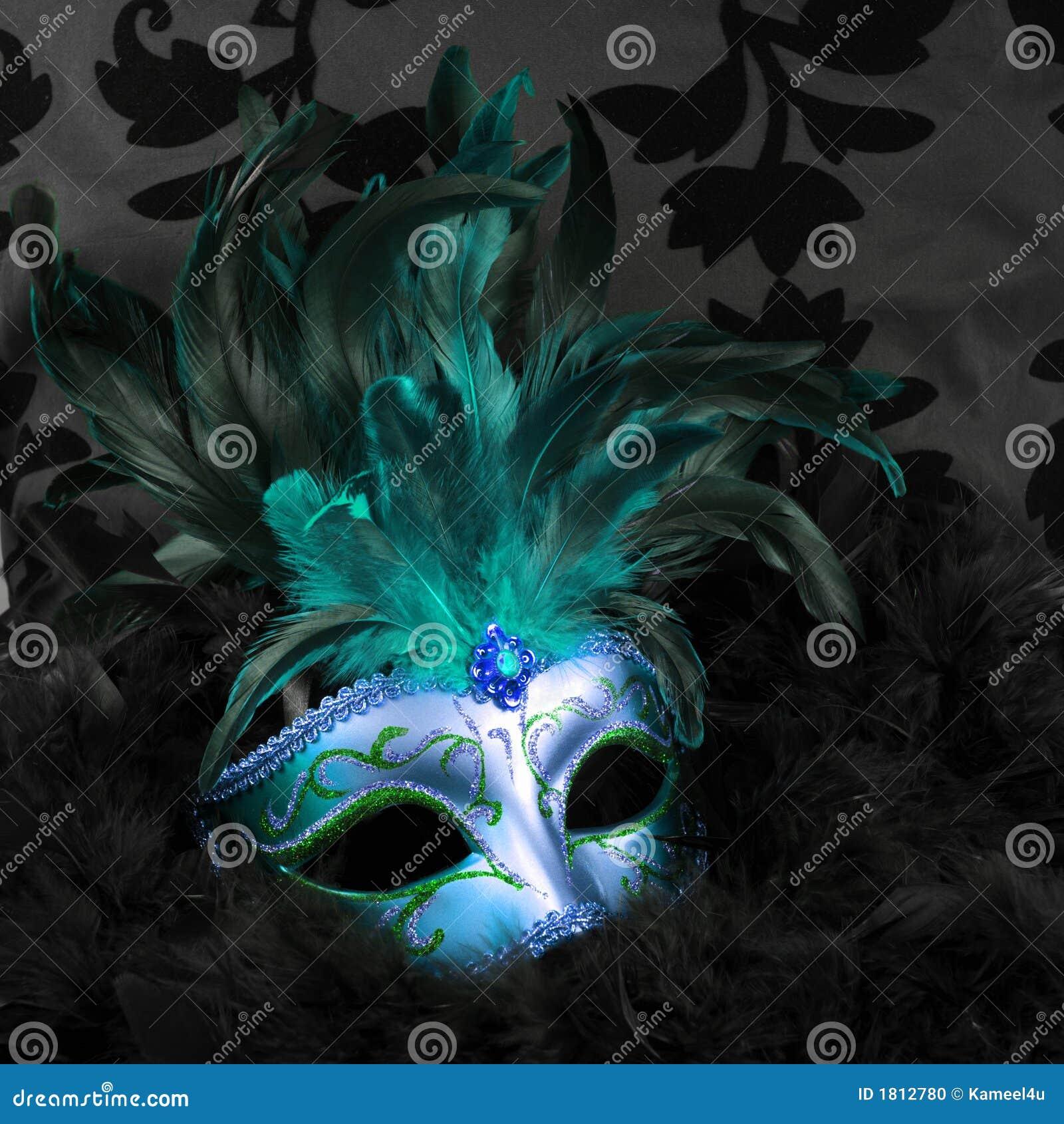 Maskering mystiska venice för blå green