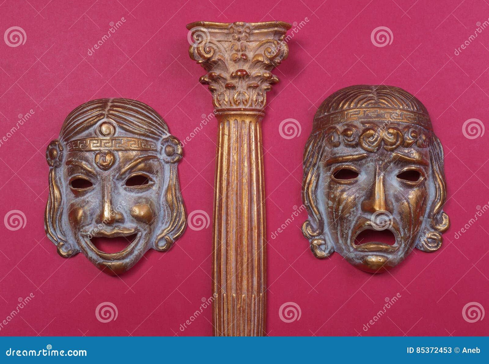 Maskers van het Griekse theater